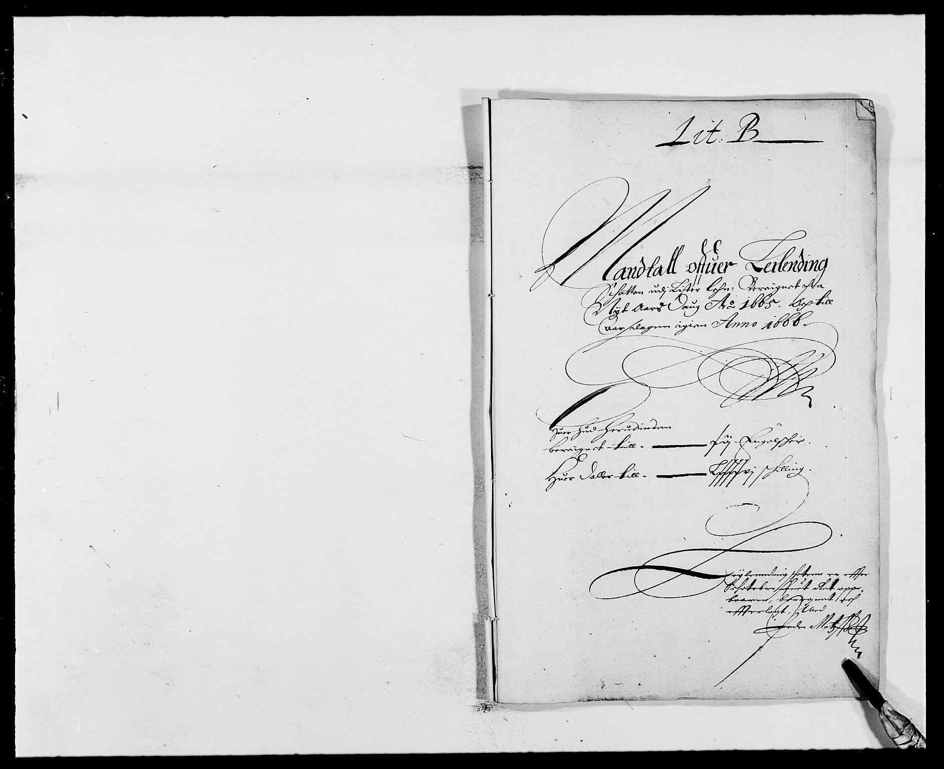 RA, Rentekammeret inntil 1814, Reviderte regnskaper, Fogderegnskap, R41/L2524: Fogderegnskap Lista, 1665-1668, s. 18