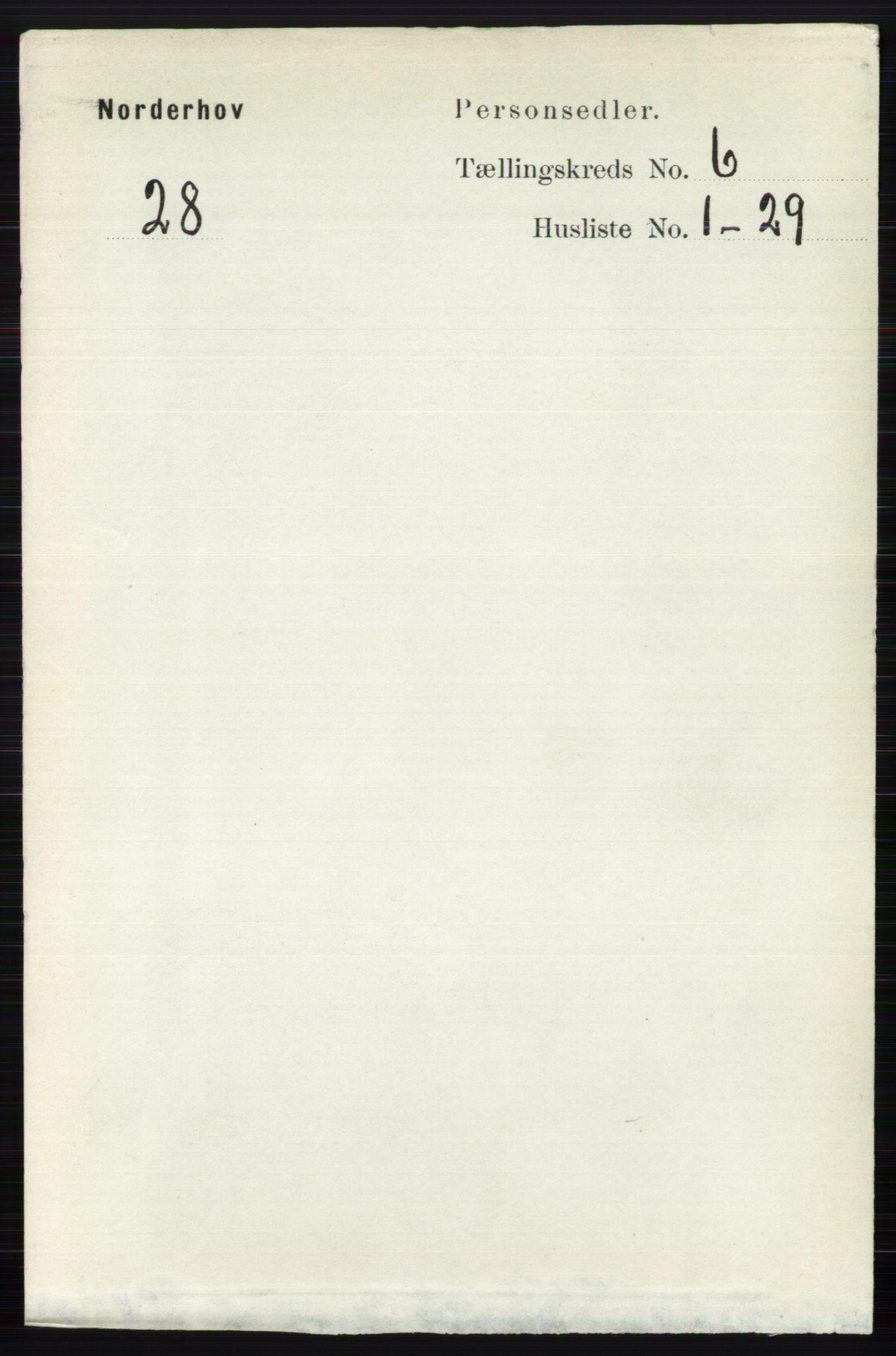 RA, Folketelling 1891 for 0613 Norderhov herred, 1891, s. 3997