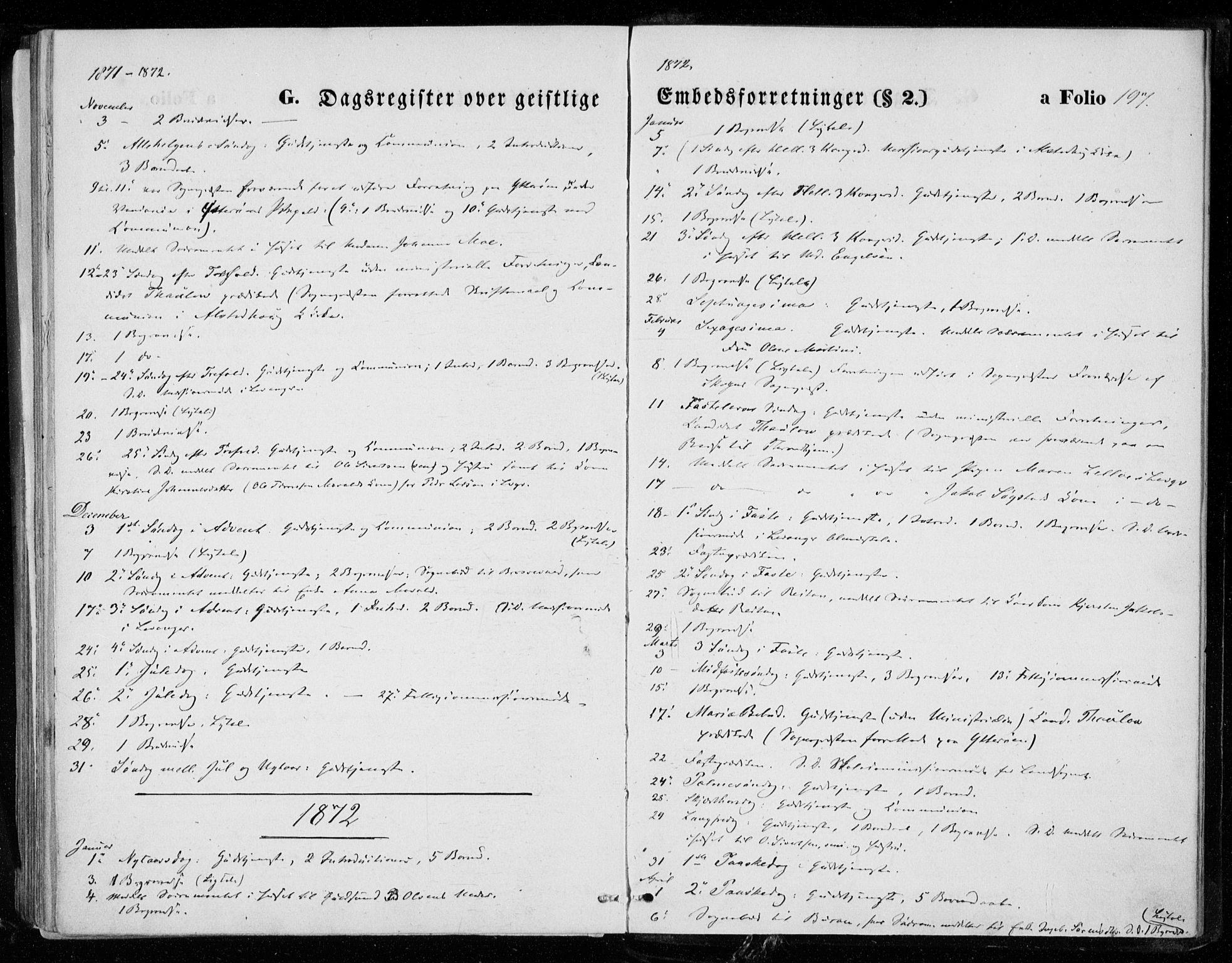 SAT, Ministerialprotokoller, klokkerbøker og fødselsregistre - Nord-Trøndelag, 721/L0206: Ministerialbok nr. 721A01, 1864-1874, s. 197