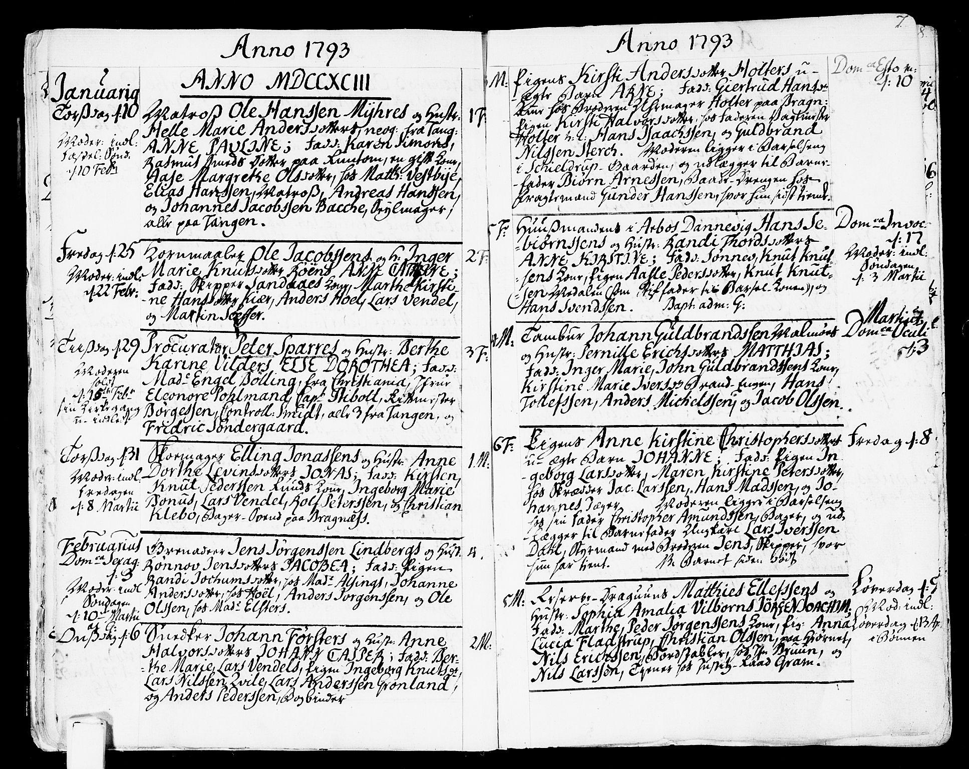 SAKO, Strømsø kirkebøker, F/Fa/L0010: Ministerialbok nr. I 10, 1792-1822, s. 7