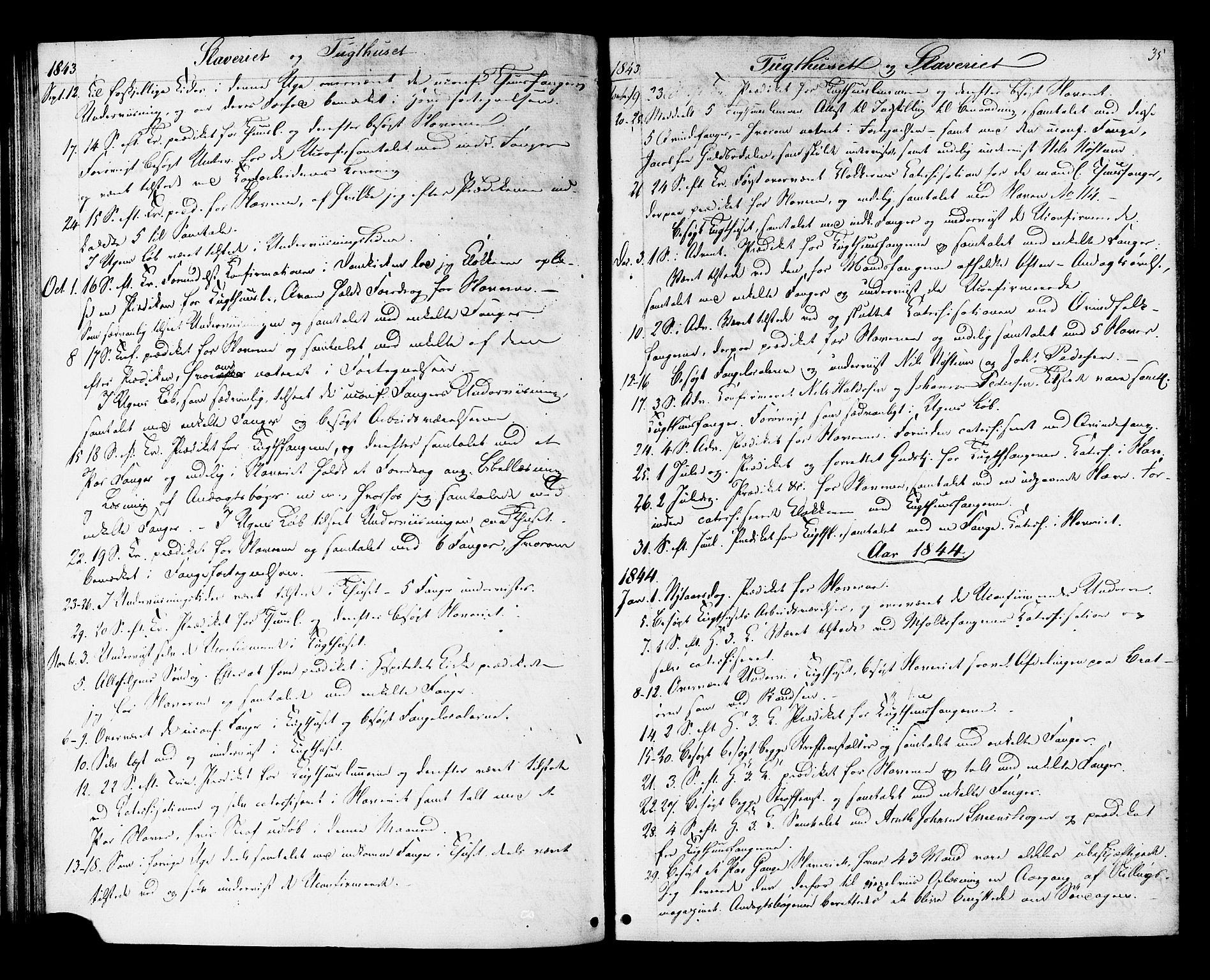 SAT, Ministerialprotokoller, klokkerbøker og fødselsregistre - Sør-Trøndelag, 624/L0480: Ministerialbok nr. 624A01, 1841-1864, s. 35