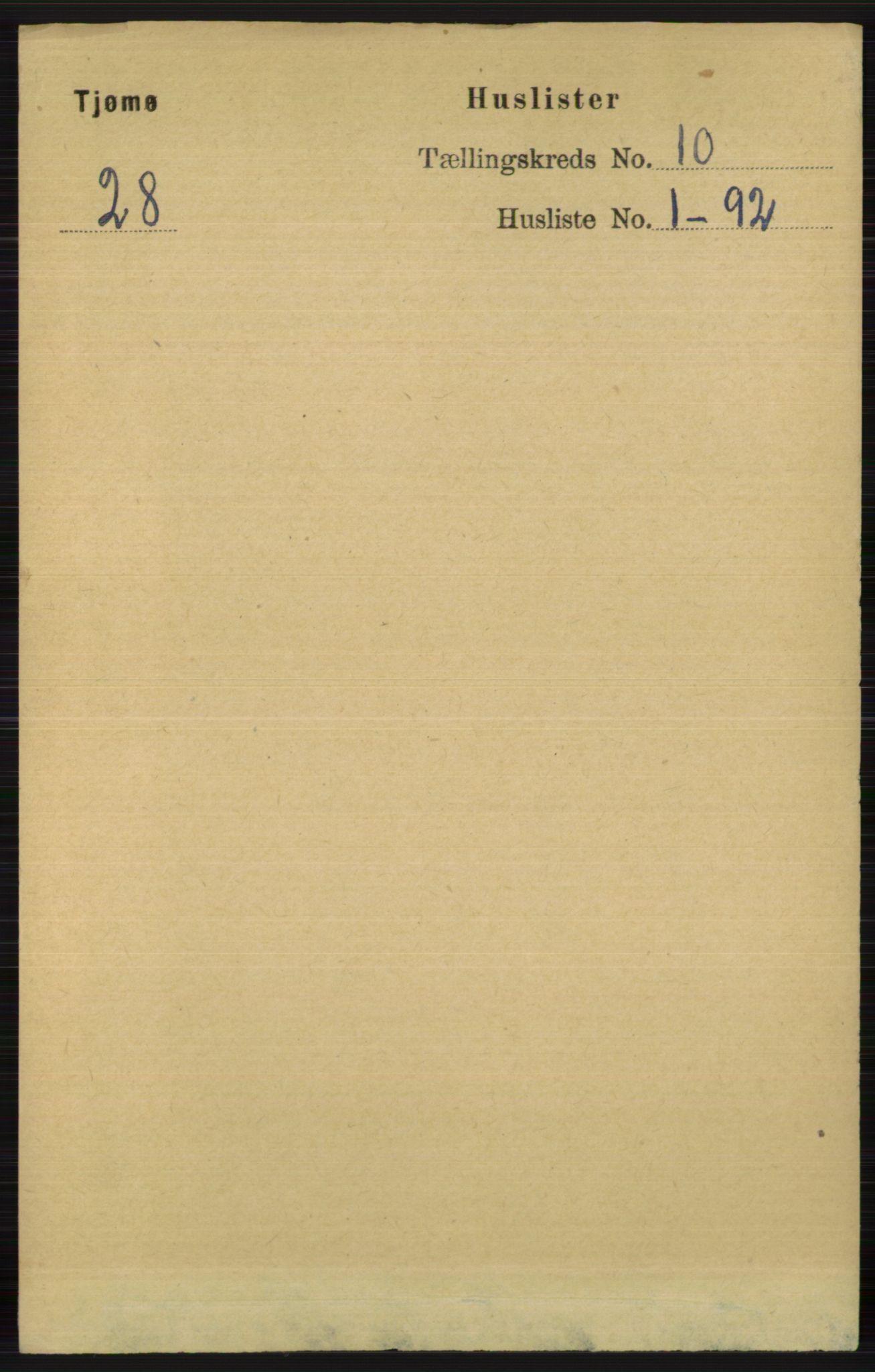 RA, Folketelling 1891 for 0723 Tjøme herred, 1891, s. 3624