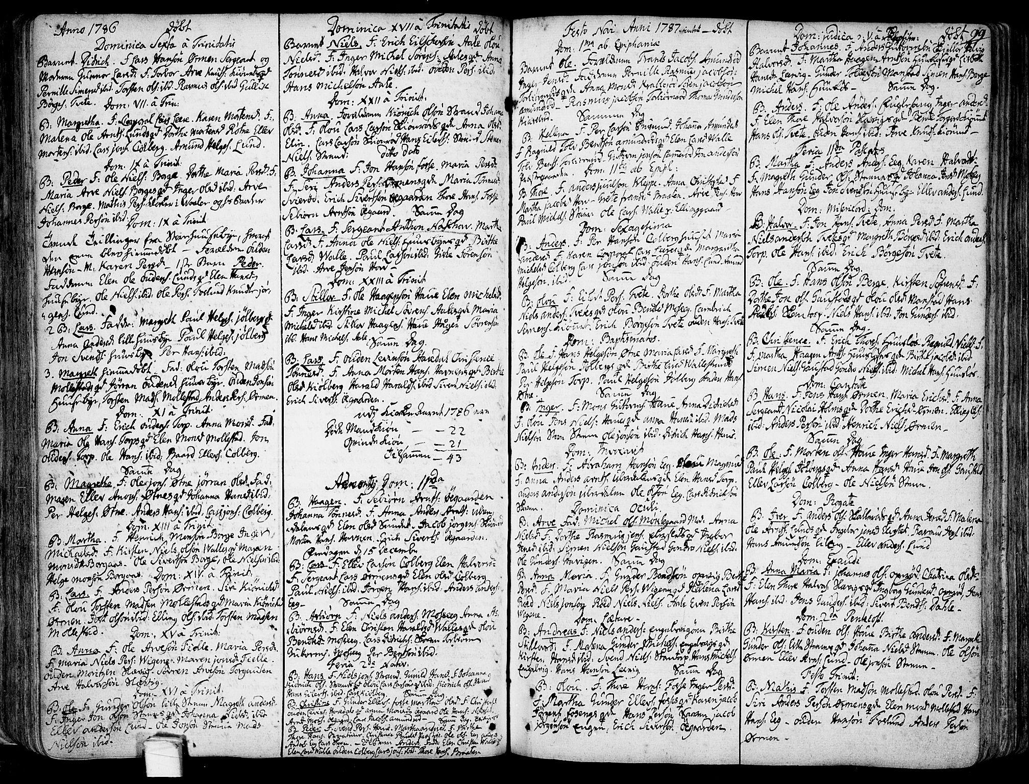 SAO, Onsøy prestekontor Kirkebøker, F/Fa/L0001: Ministerialbok nr. I 1, 1733-1814, s. 99