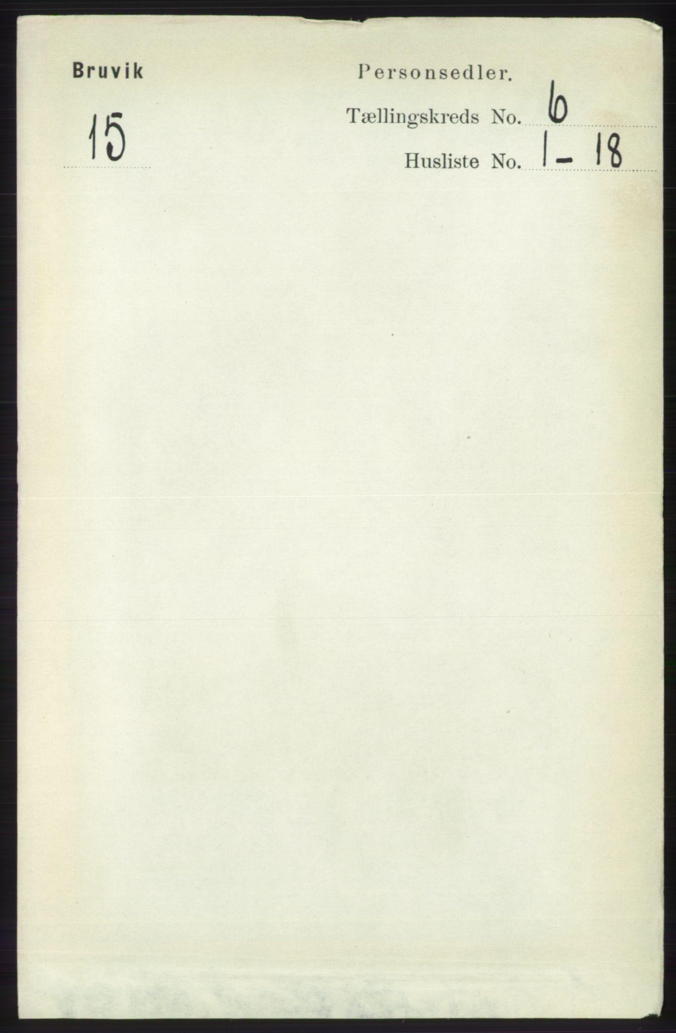 RA, Folketelling 1891 for 1251 Bruvik herred, 1891, s. 1763