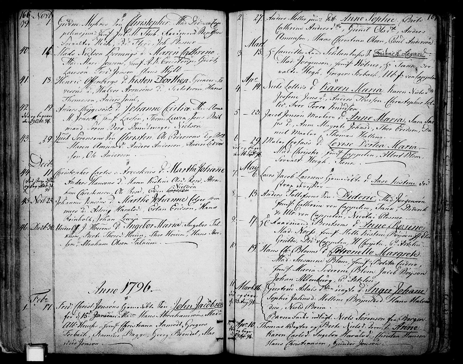 SAKO, Skien kirkebøker, F/Fa/L0004: Ministerialbok nr. 4, 1792-1814, s. 166-167