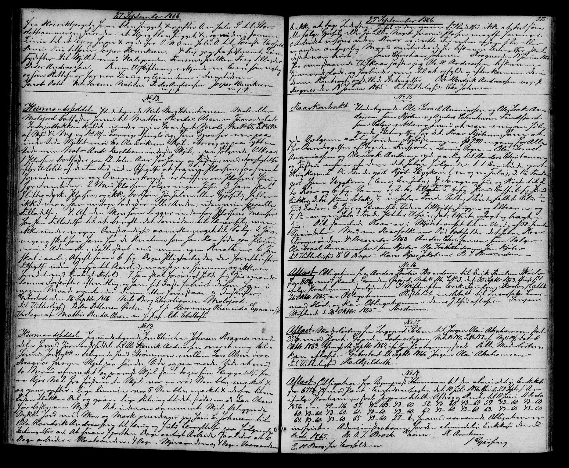 SATØ, Senja sorenskriveri 1855-, H/Hd/L0008: Pantebok nr. 8, 1864-1868, s. 275