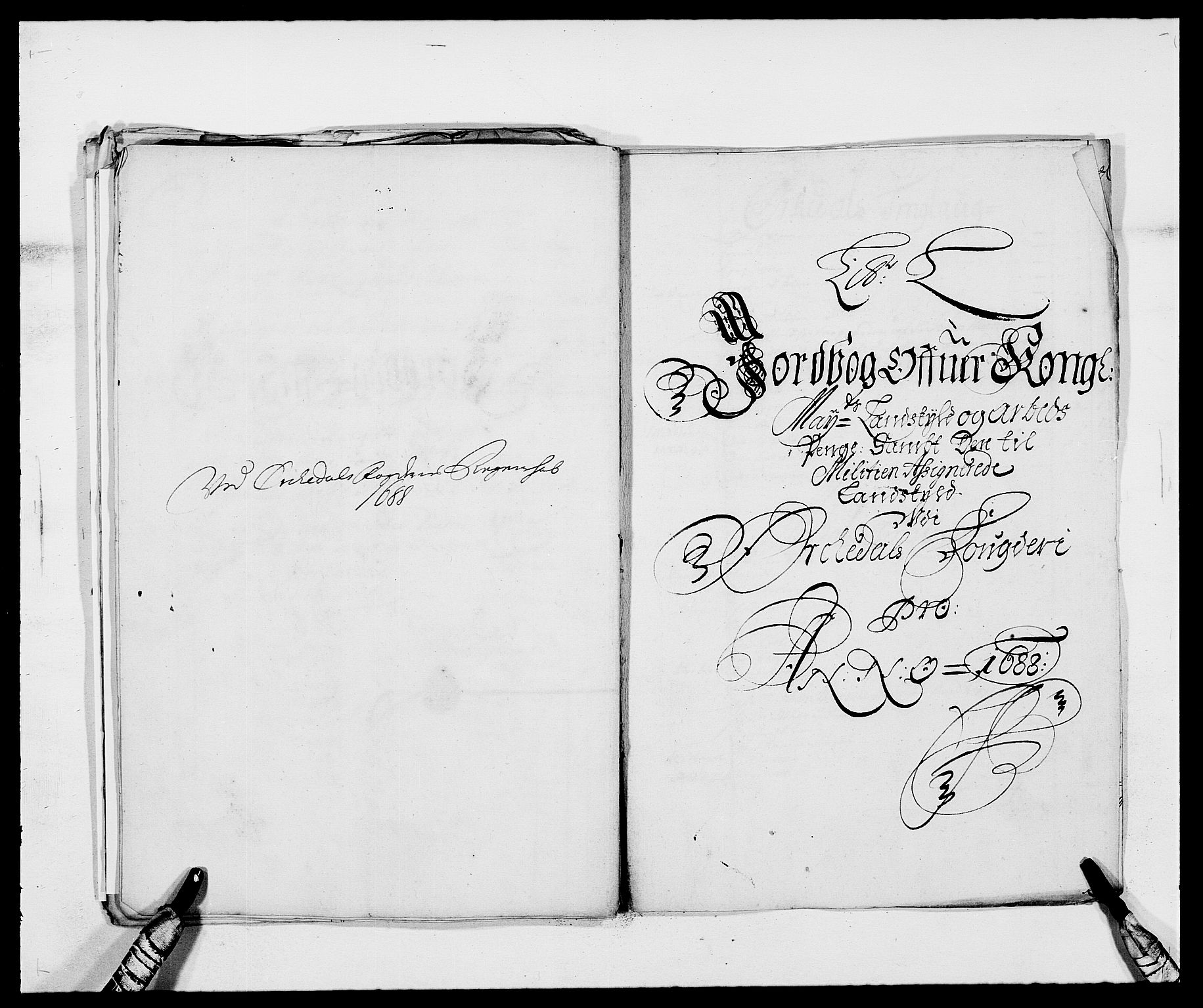 RA, Rentekammeret inntil 1814, Reviderte regnskaper, Fogderegnskap, R58/L3935: Fogderegnskap Orkdal, 1687-1688, s. 329