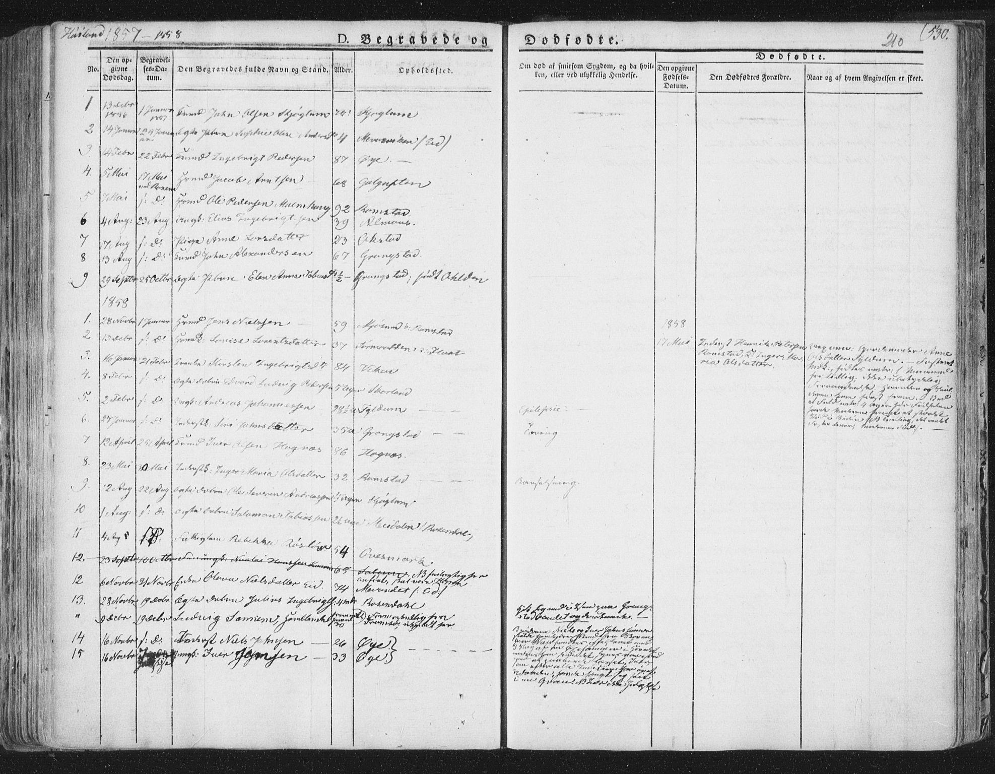 SAT, Ministerialprotokoller, klokkerbøker og fødselsregistre - Nord-Trøndelag, 758/L0513: Ministerialbok nr. 758A02 /2, 1839-1868, s. 210