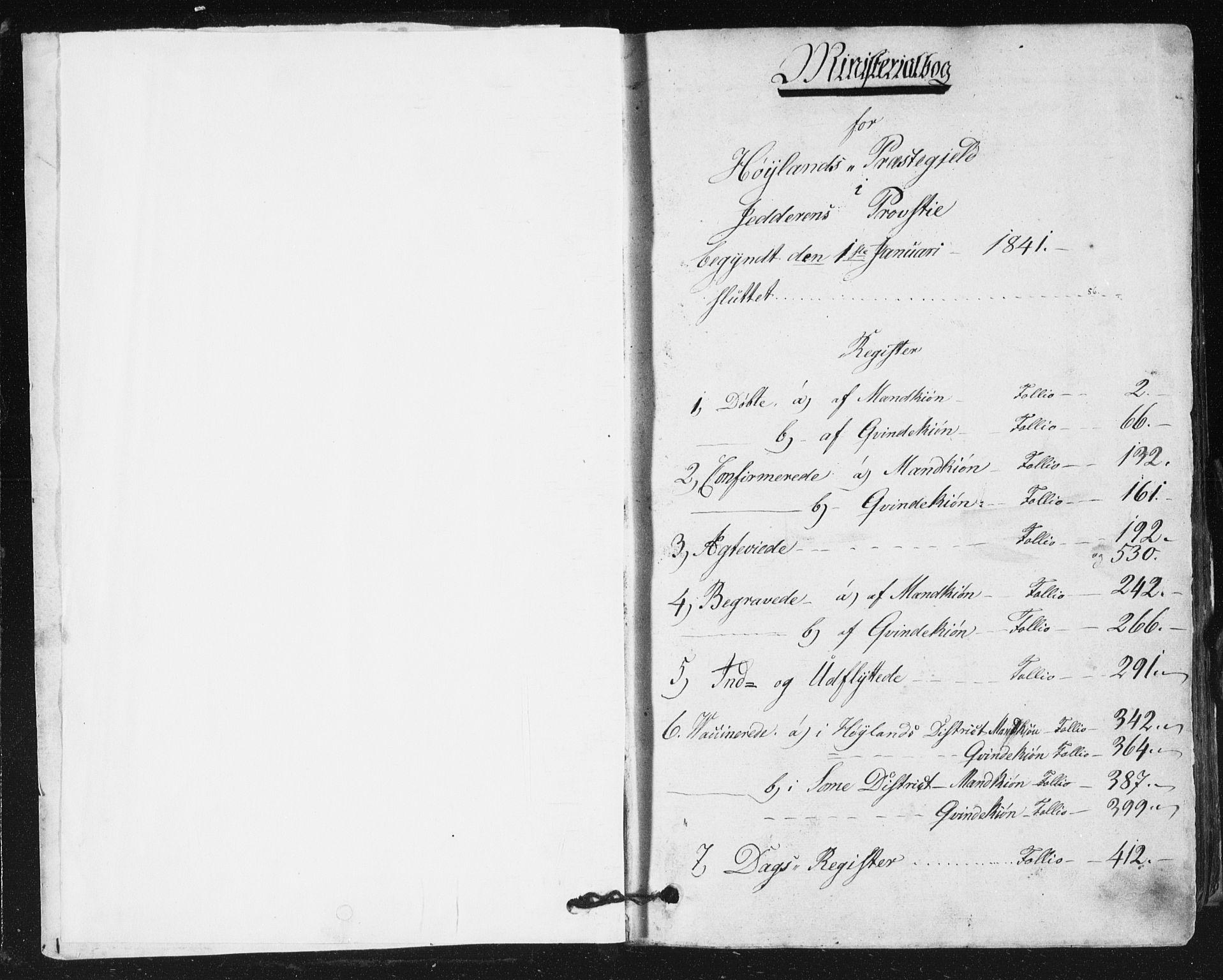 SAST, Høyland sokneprestkontor, 30BA/L0008: Ministerialbok nr. A 8, 1841-1856