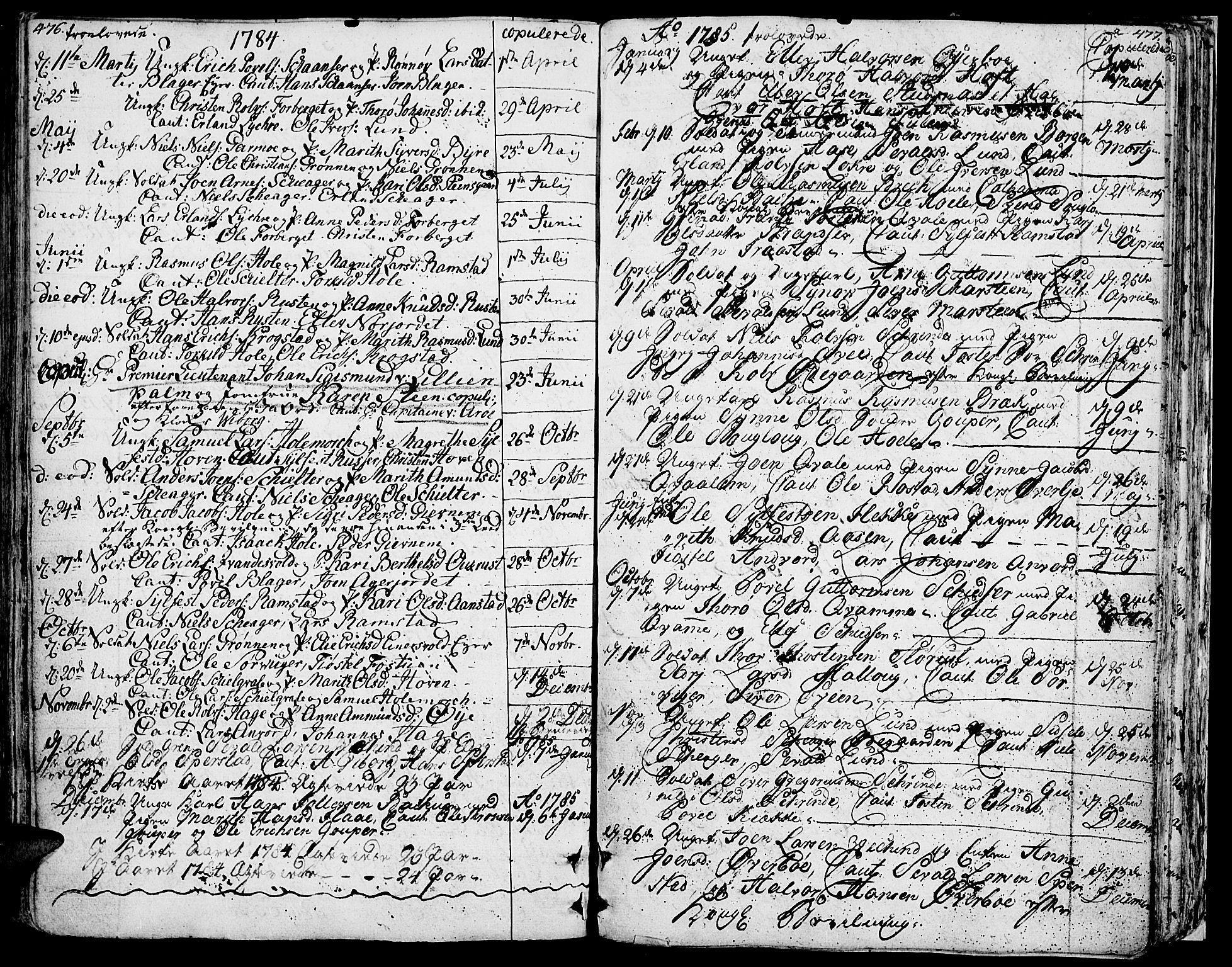 SAH, Lom prestekontor, K/L0002: Ministerialbok nr. 2, 1749-1801, s. 476-477