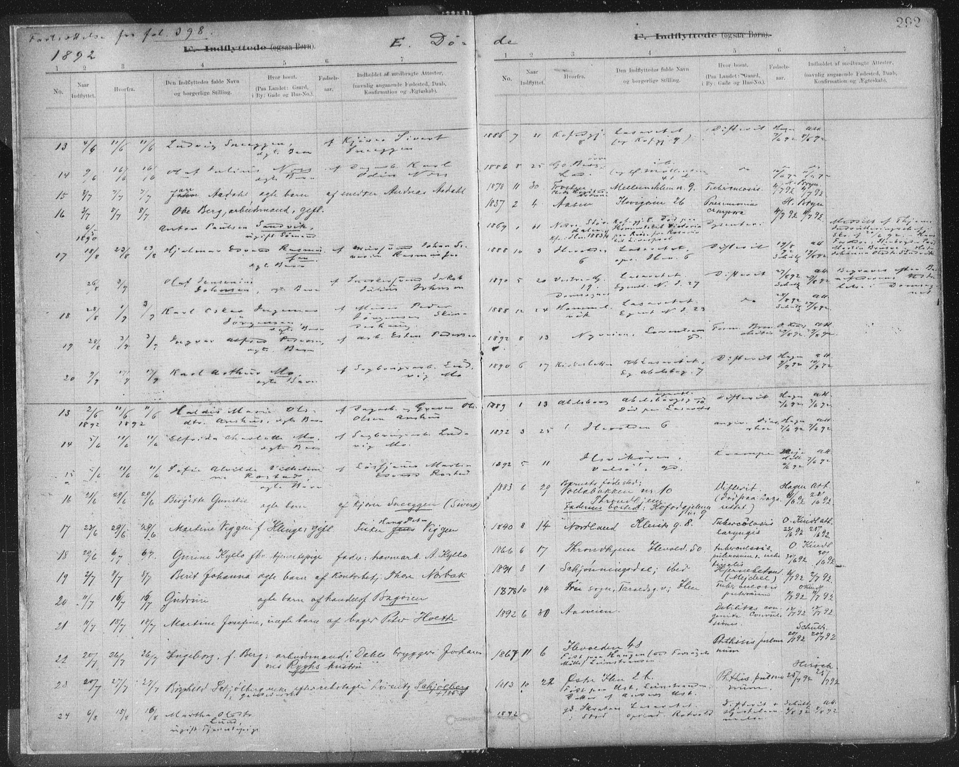 SAT, Ministerialprotokoller, klokkerbøker og fødselsregistre - Sør-Trøndelag, 603/L0163: Ministerialbok nr. 603A02, 1879-1895, s. 292