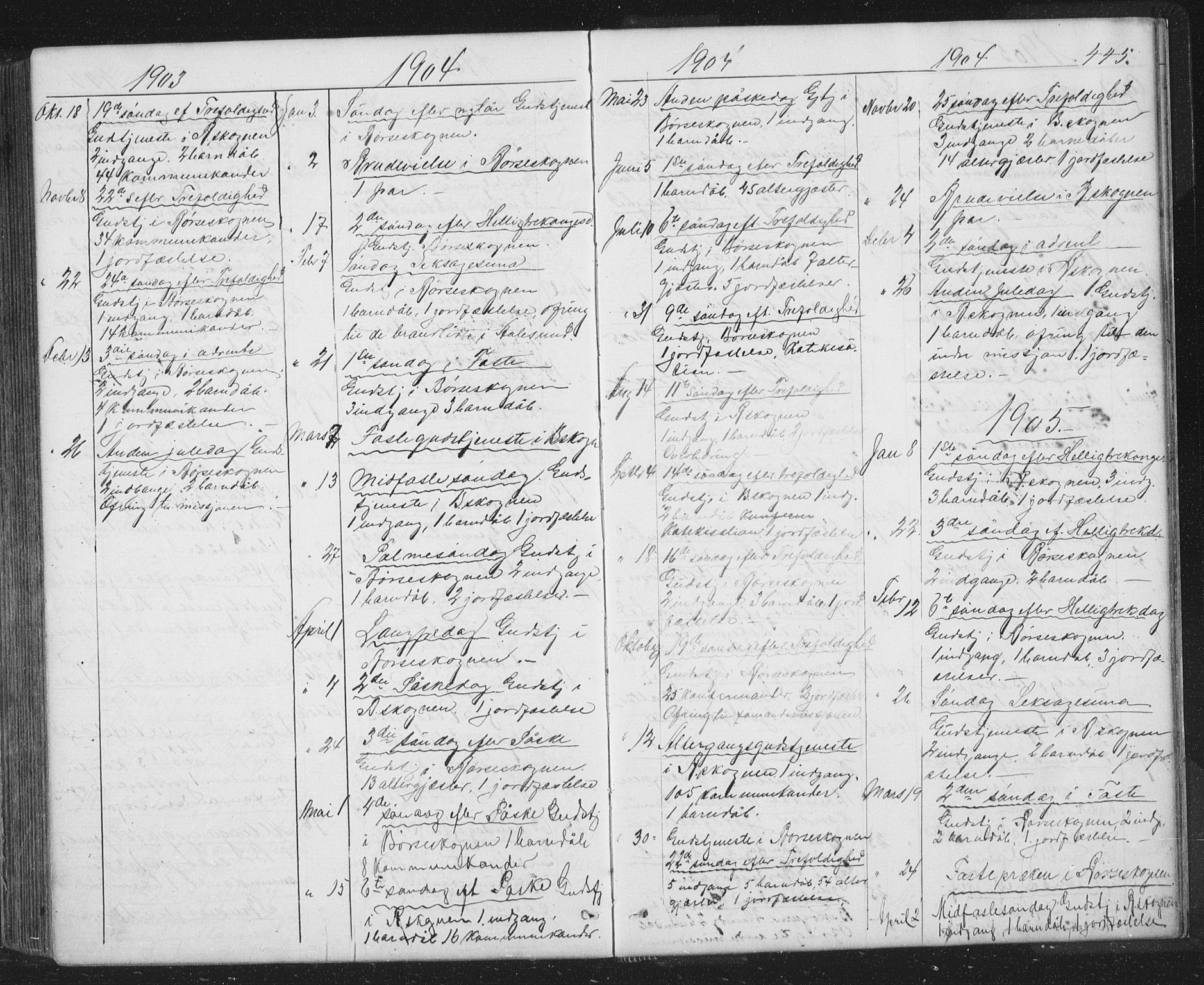 SAT, Ministerialprotokoller, klokkerbøker og fødselsregistre - Sør-Trøndelag, 667/L0798: Klokkerbok nr. 667C03, 1867-1929, s. 445