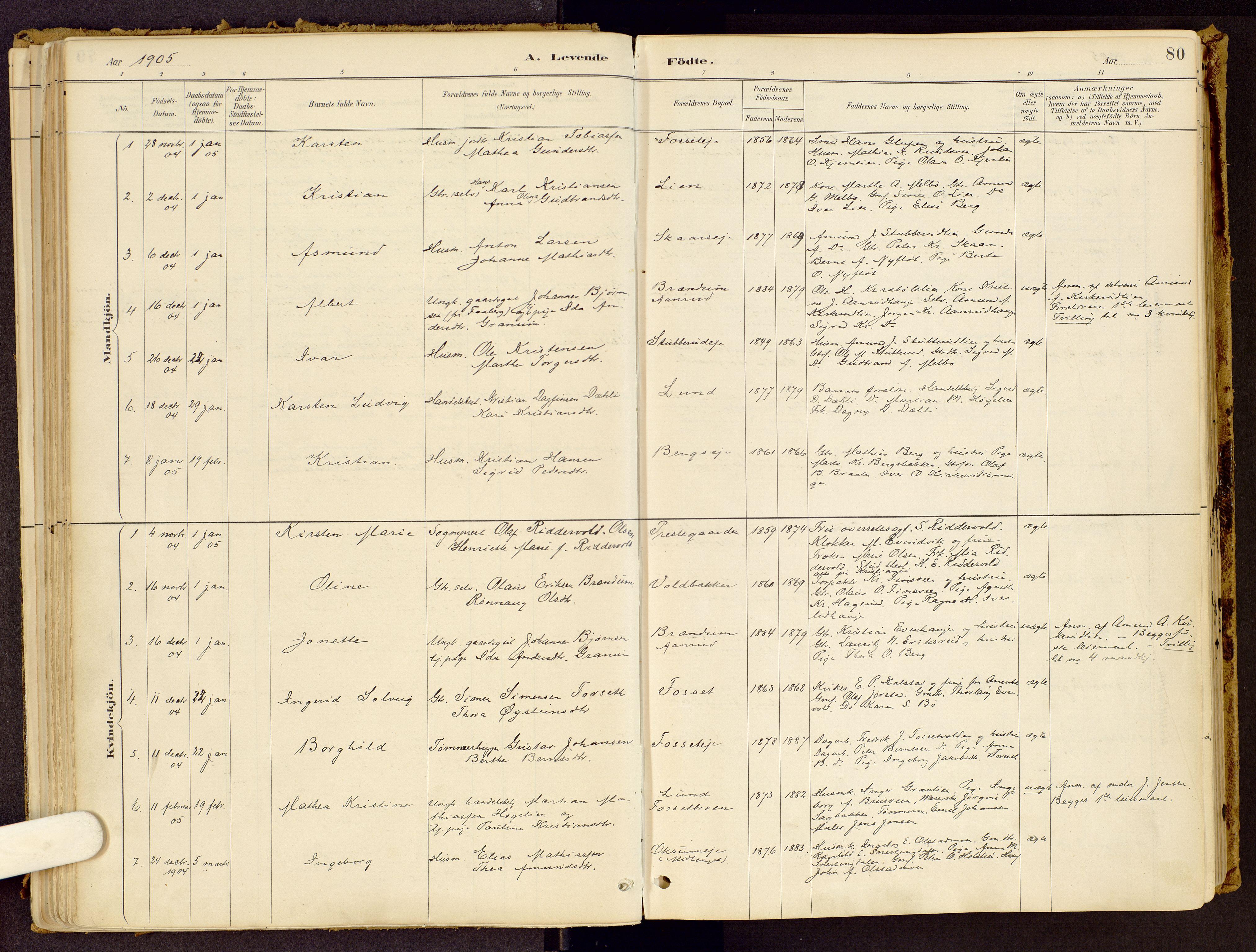 SAH, Vestre Gausdal prestekontor, Ministerialbok nr. 1, 1887-1914, s. 80