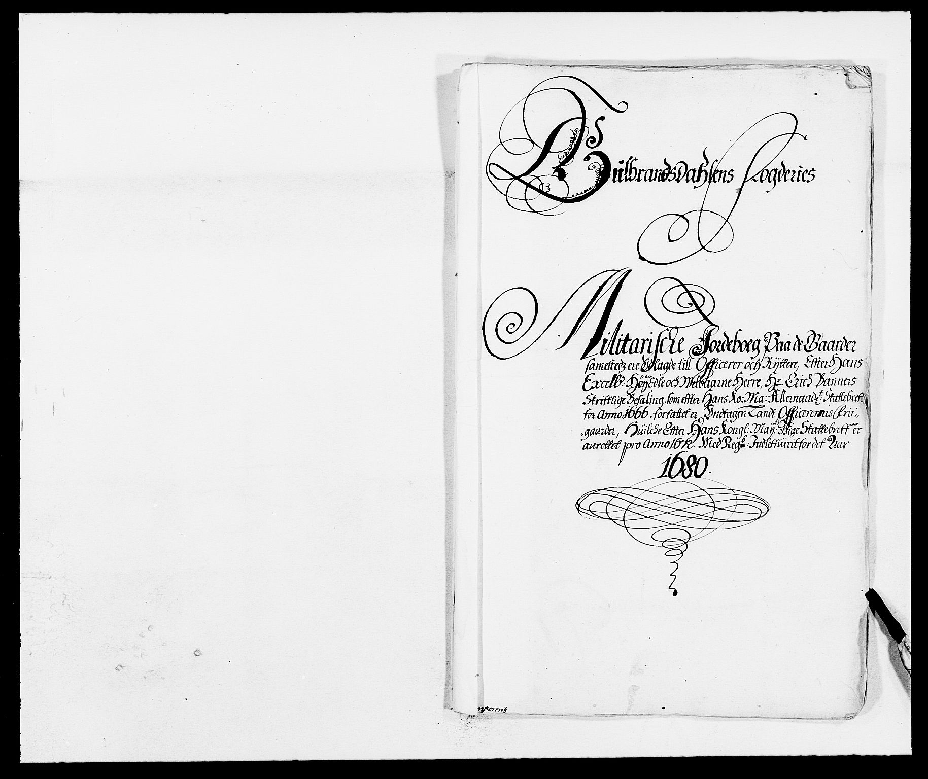 RA, Rentekammeret inntil 1814, Reviderte regnskaper, Fogderegnskap, R17/L1154: Fogderegnskap Gudbrandsdal, 1680, s. 394