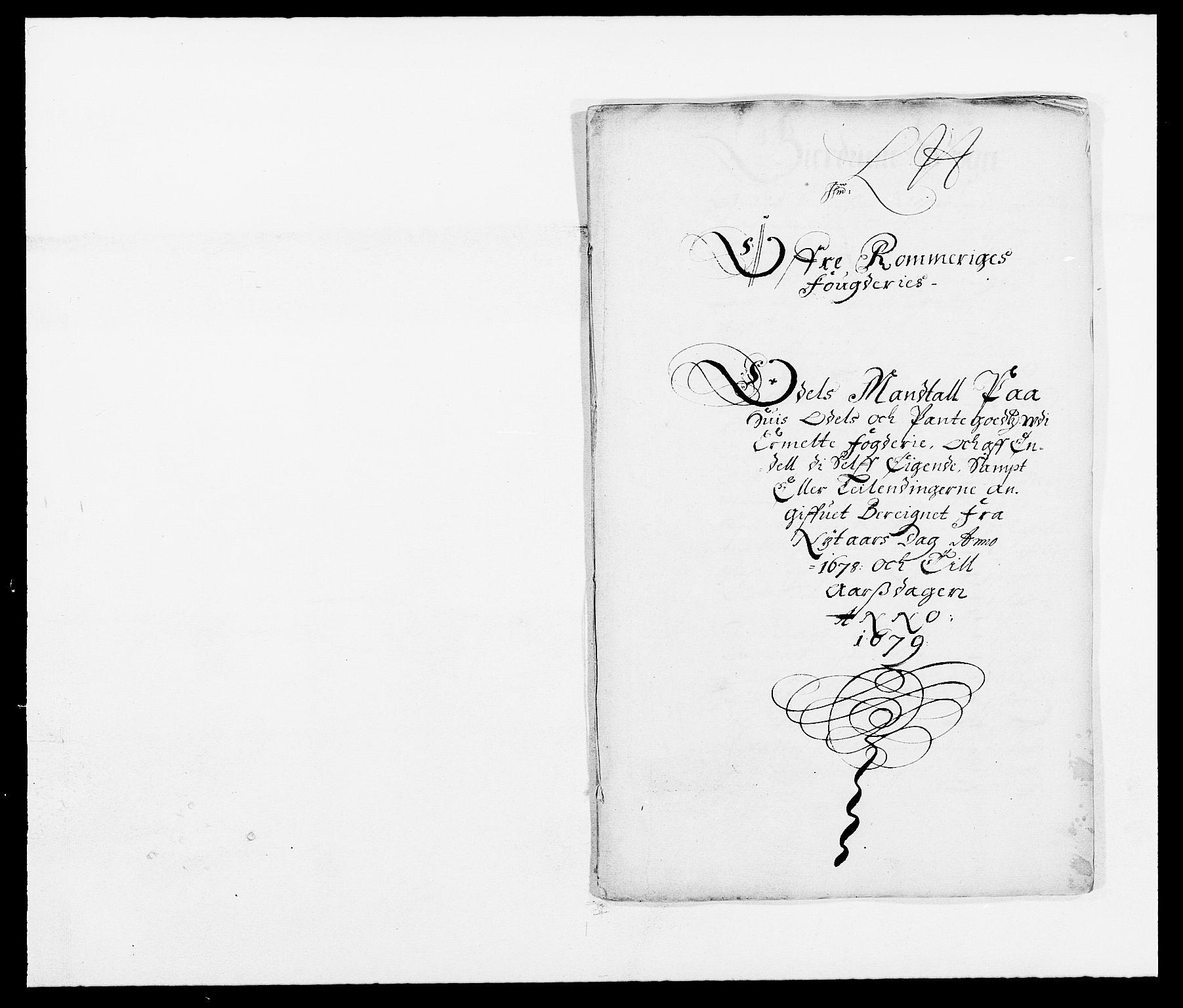 RA, Rentekammeret inntil 1814, Reviderte regnskaper, Fogderegnskap, R12/L0693: Fogderegnskap Øvre Romerike, 1678-1679, s. 243