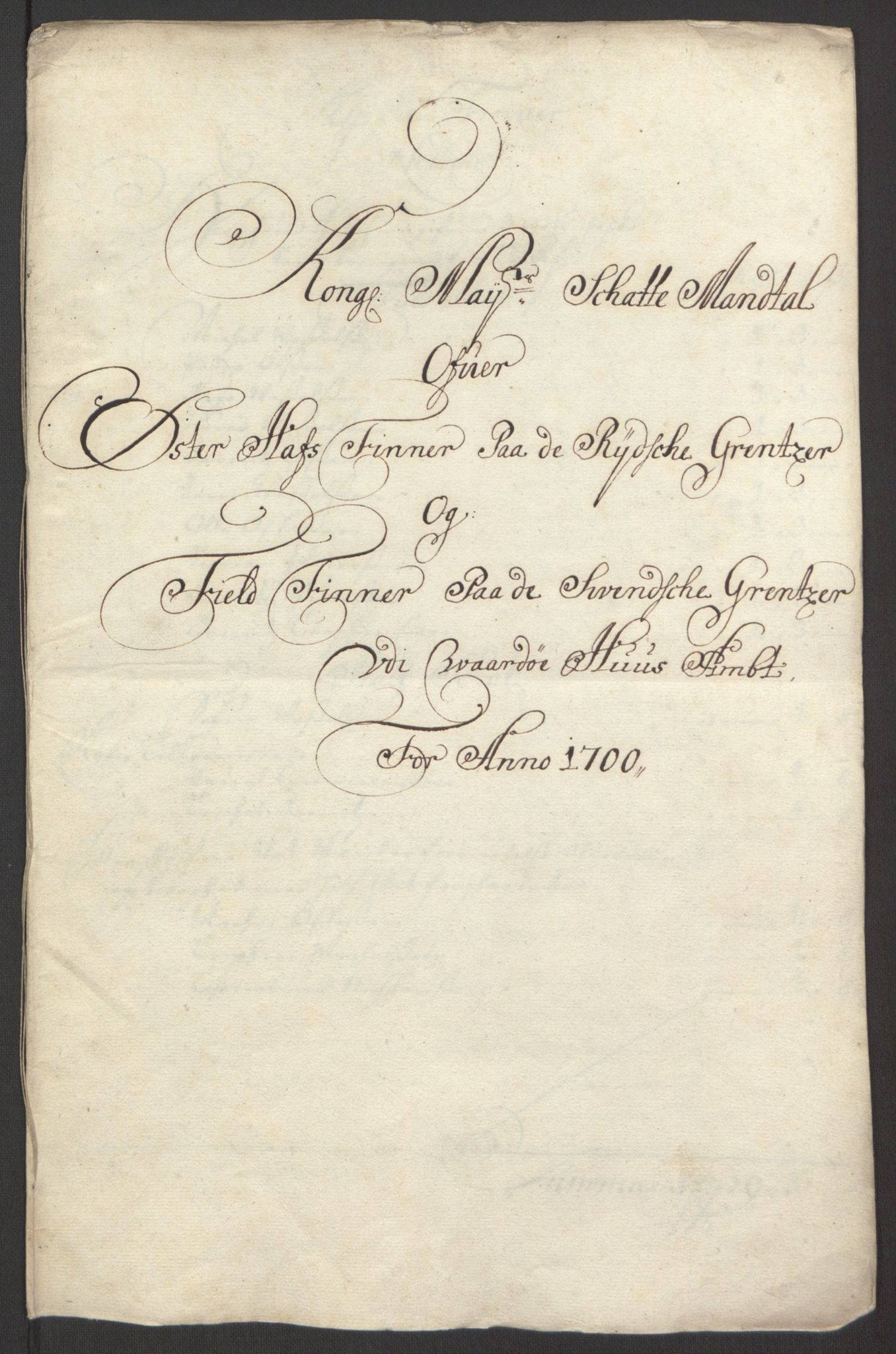 RA, Rentekammeret inntil 1814, Reviderte regnskaper, Fogderegnskap, R69/L4851: Fogderegnskap Finnmark/Vardøhus, 1691-1700, s. 419