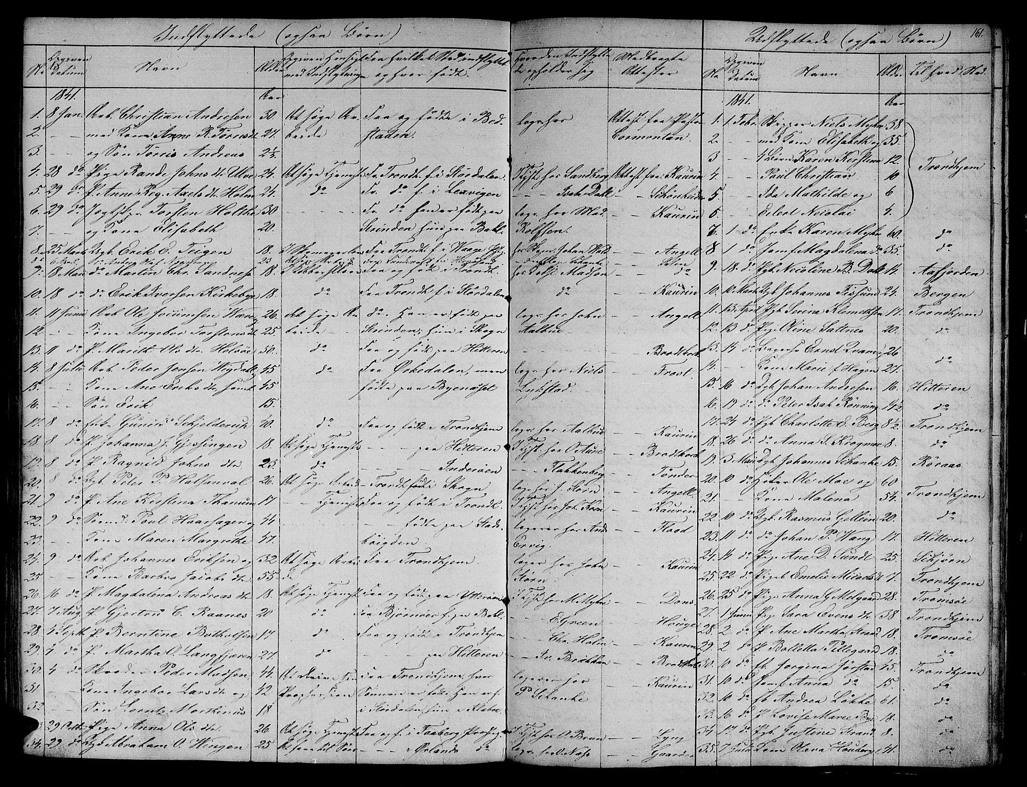 SAT, Ministerialprotokoller, klokkerbøker og fødselsregistre - Sør-Trøndelag, 604/L0182: Ministerialbok nr. 604A03, 1818-1850, s. 161