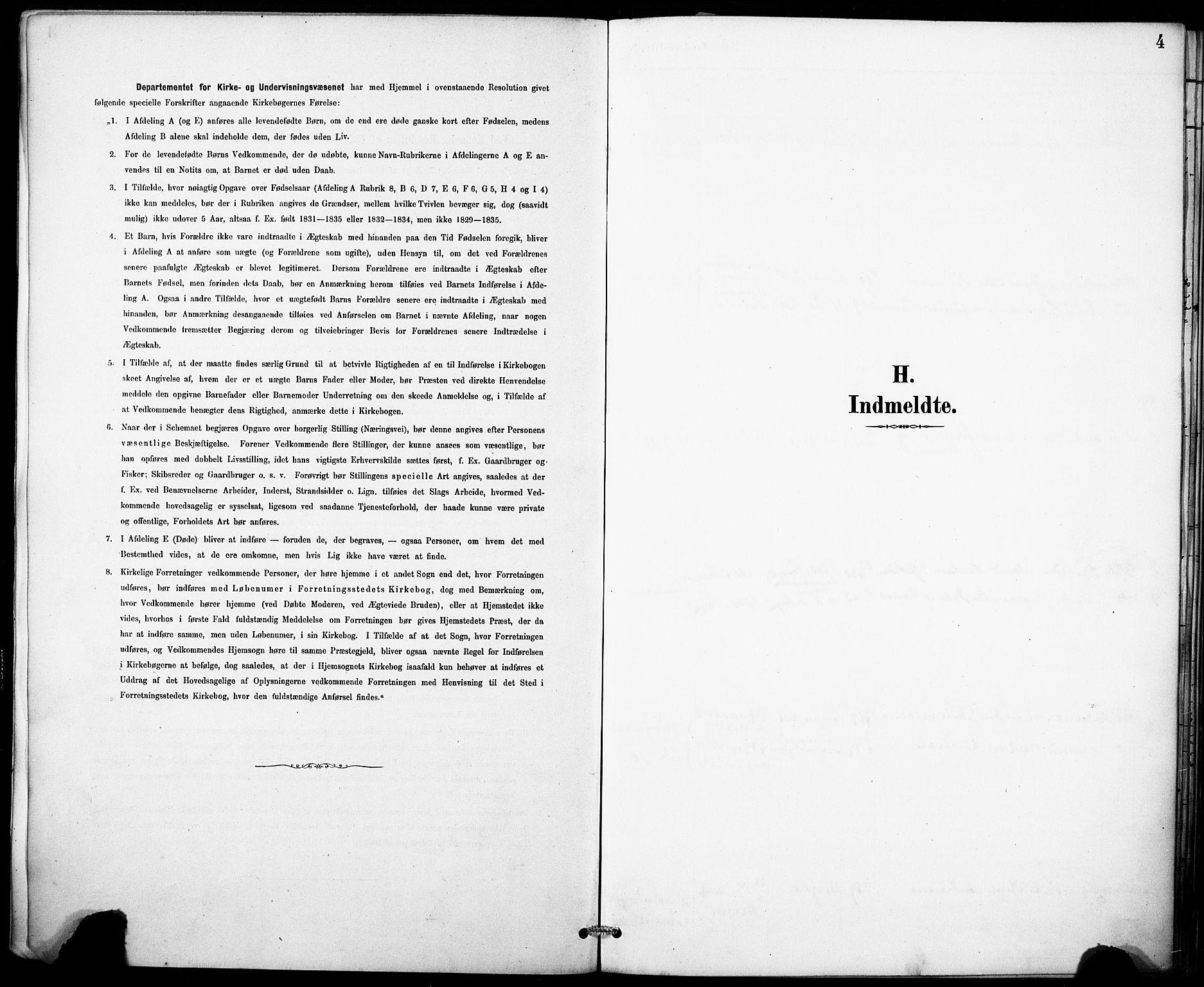 SAB, Domkirken Sokneprestembete, H/Haa: Ministerialbok nr. I 1, 1887-1908, s. 4