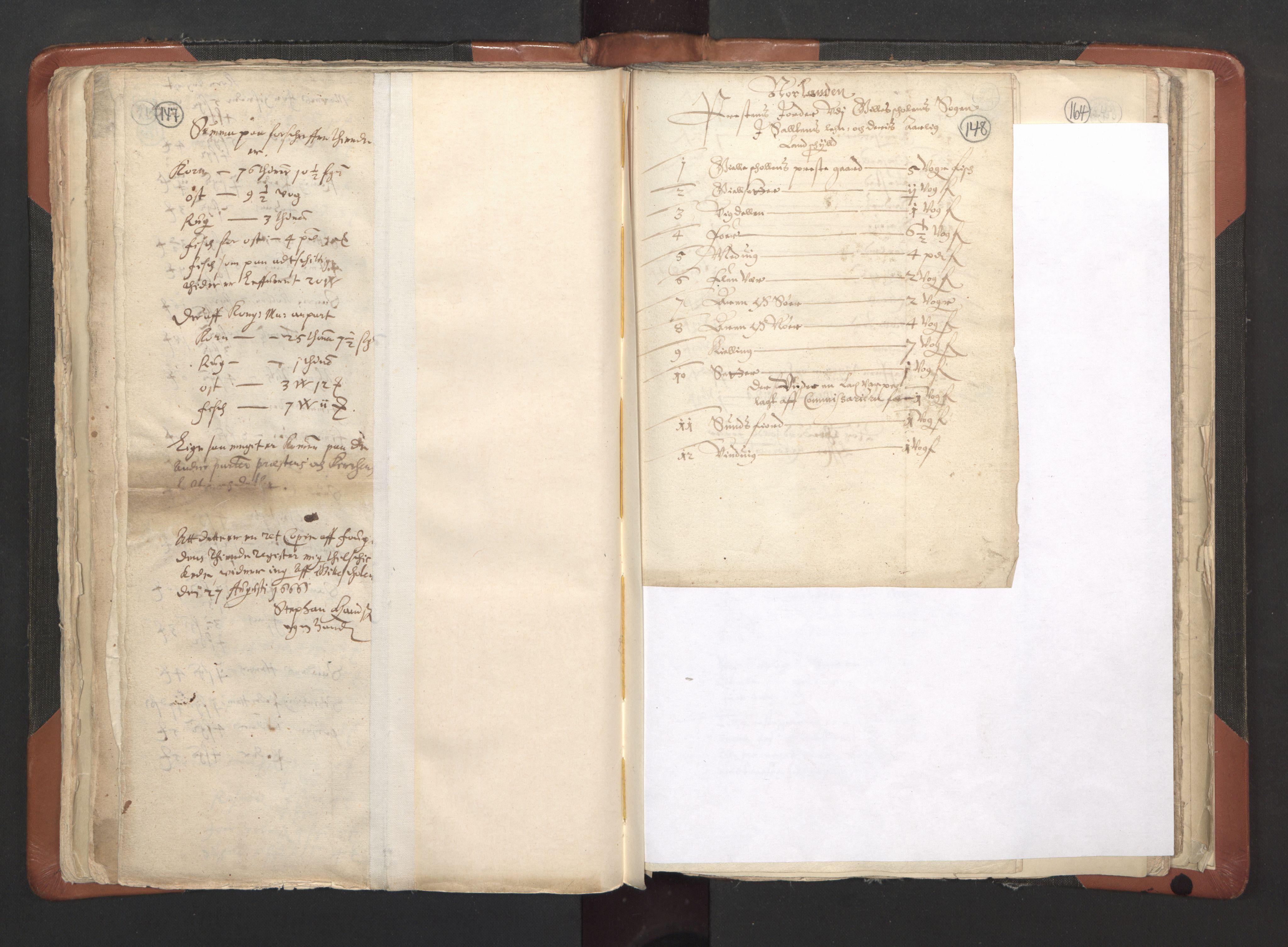 RA, Sogneprestenes manntall 1664-1666, nr. 35: Helgeland prosti og Salten prosti, 1664-1666, s. 147-148