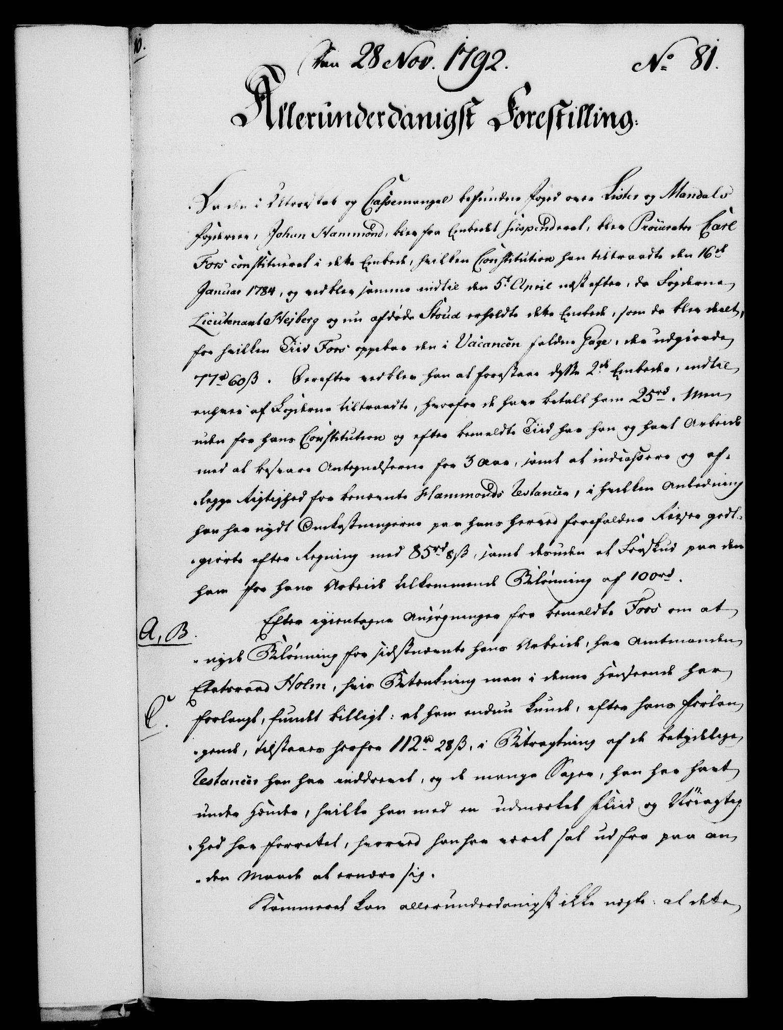 RA, Rentekammeret, Kammerkanselliet, G/Gf/Gfa/L0074: Norsk relasjons- og resolusjonsprotokoll (merket RK 52.74), 1792, s. 474