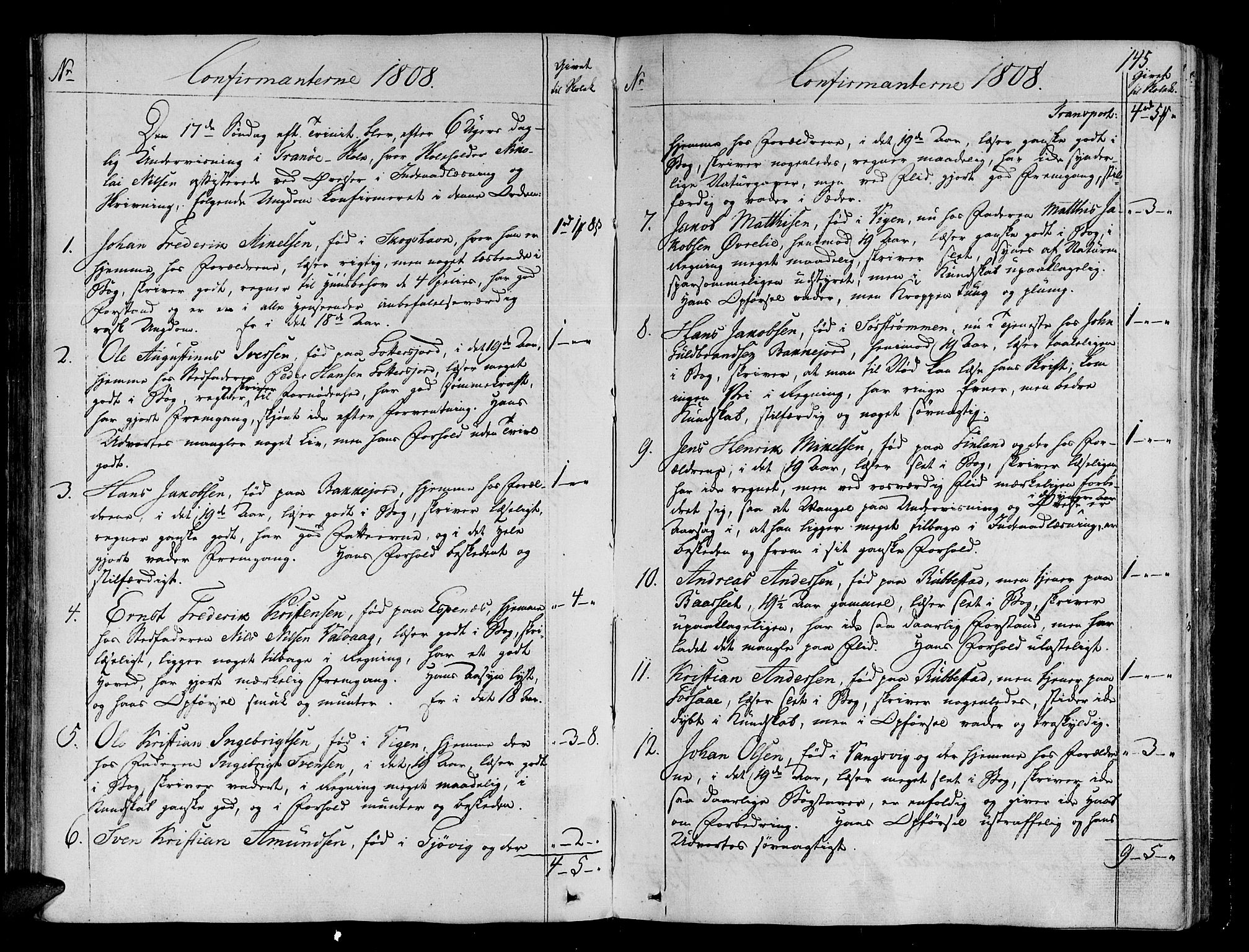 SATØ, Tranøy sokneprestkontor, I/Ia/Iaa/L0003kirke: Ministerialbok nr. 3, 1807-1820, s. 145