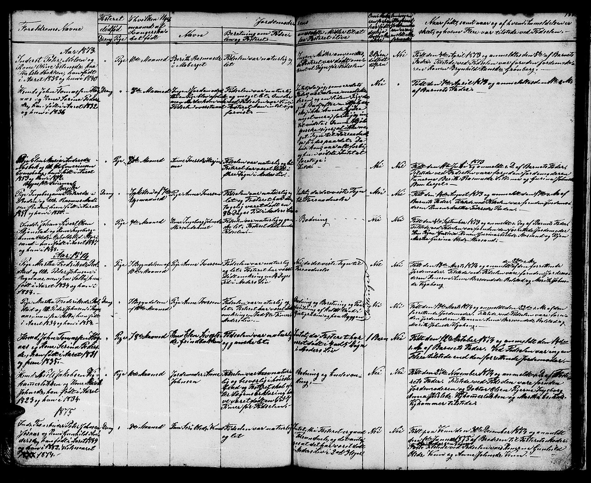 SAT, Ministerialprotokoller, klokkerbøker og fødselsregistre - Sør-Trøndelag, 616/L0422: Klokkerbok nr. 616C05, 1850-1888, s. 180