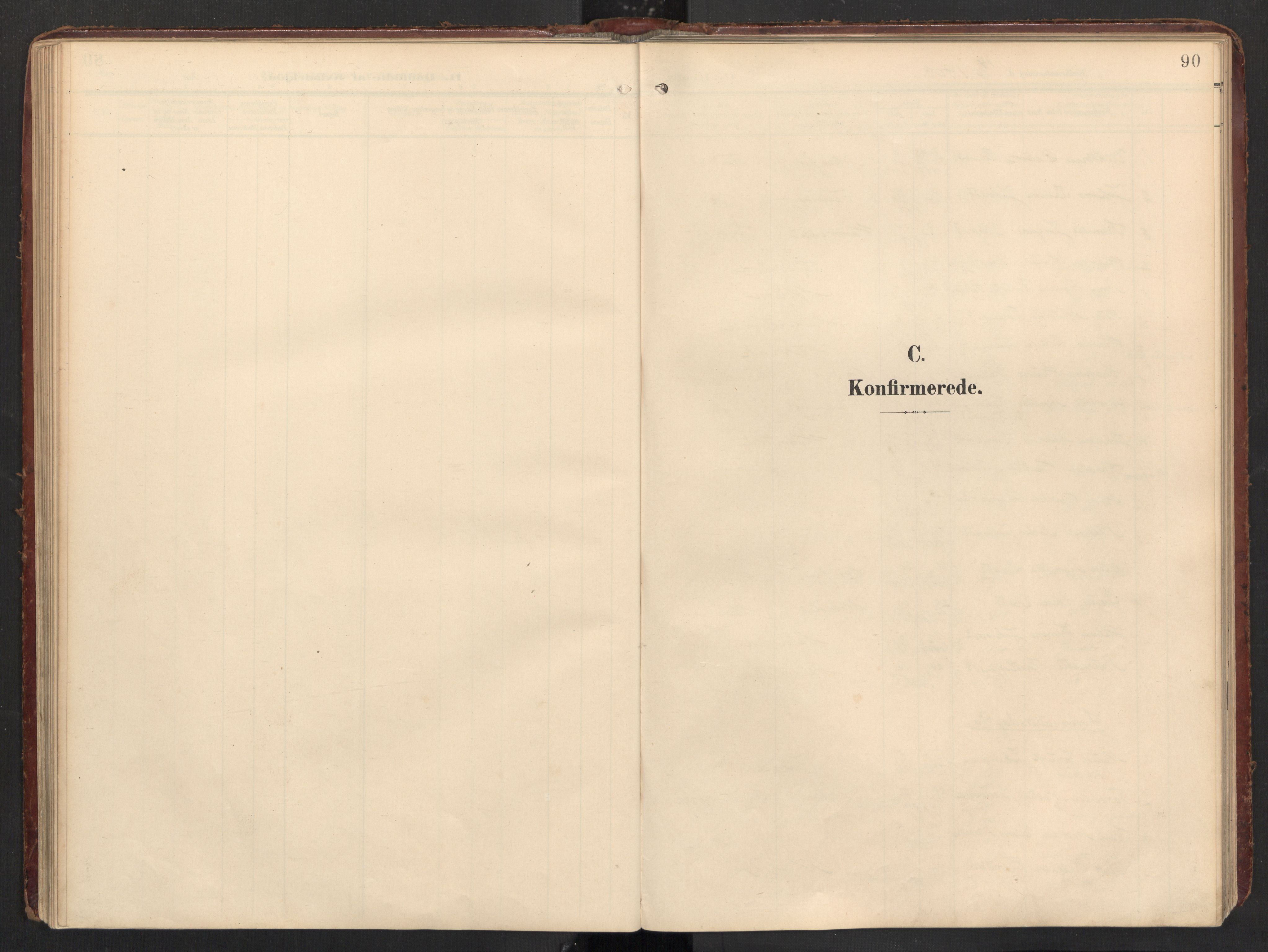 SAT, Ministerialprotokoller, klokkerbøker og fødselsregistre - Nordland, 890/L1287: Ministerialbok nr. 890A02, 1903-1915, s. 90