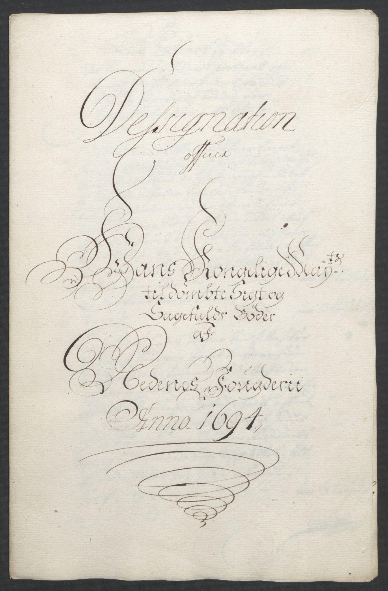 RA, Rentekammeret inntil 1814, Reviderte regnskaper, Fogderegnskap, R39/L2312: Fogderegnskap Nedenes, 1693-1695, s. 136