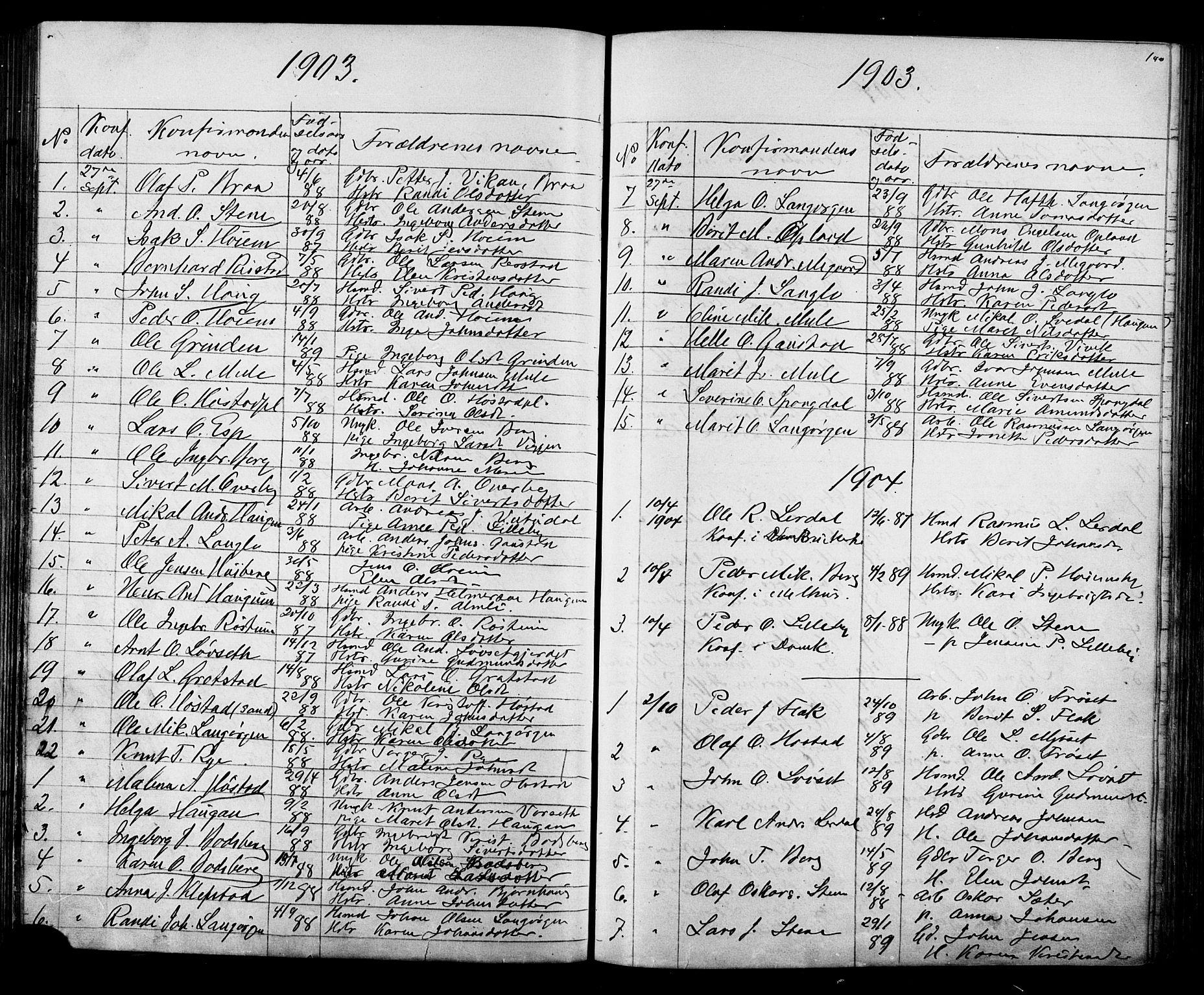 SAT, Ministerialprotokoller, klokkerbøker og fødselsregistre - Sør-Trøndelag, 612/L0387: Klokkerbok nr. 612C03, 1874-1908, s. 140