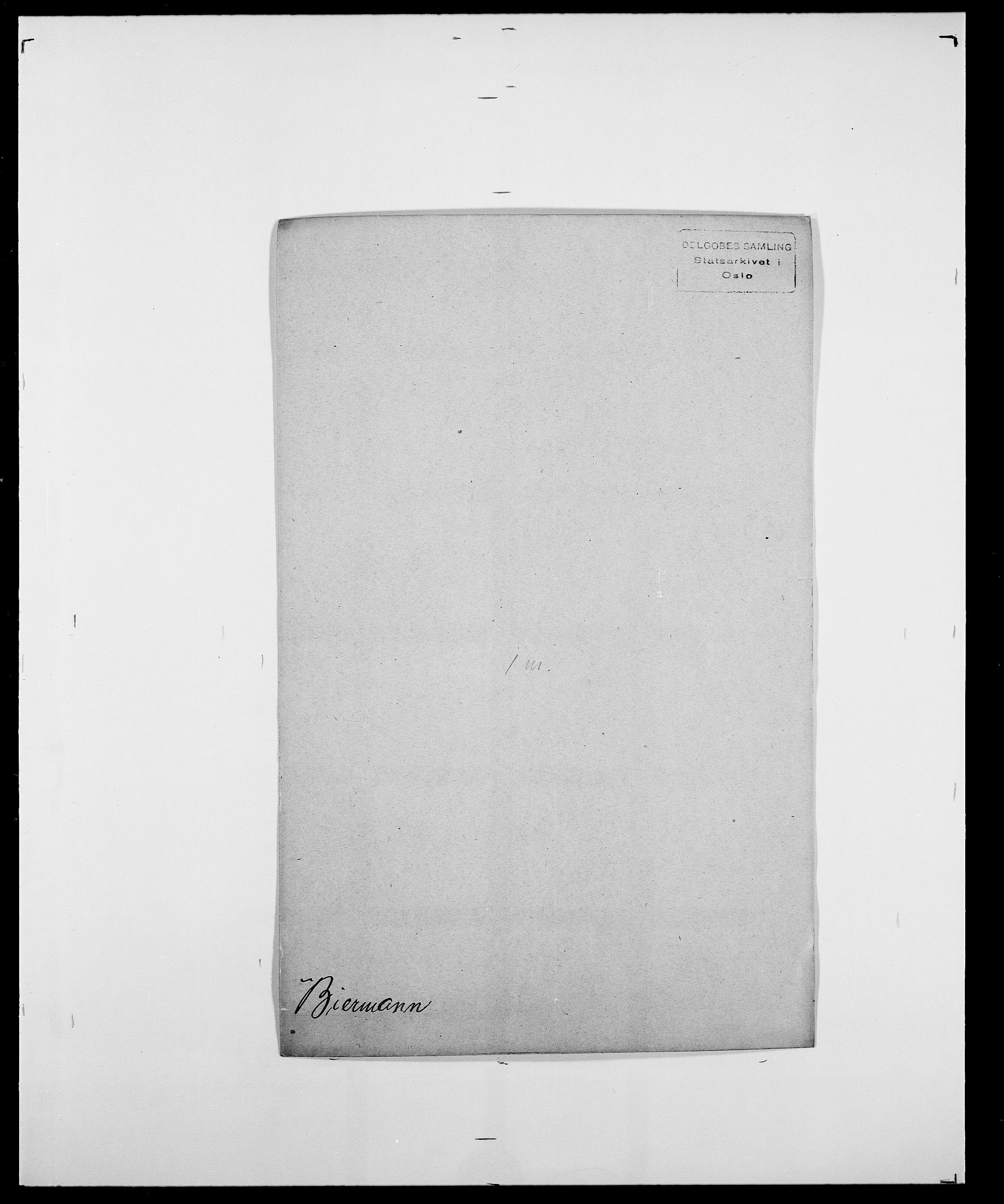 SAO, Delgobe, Charles Antoine - samling, D/Da/L0004: Bergendahl - Blære, s. 253