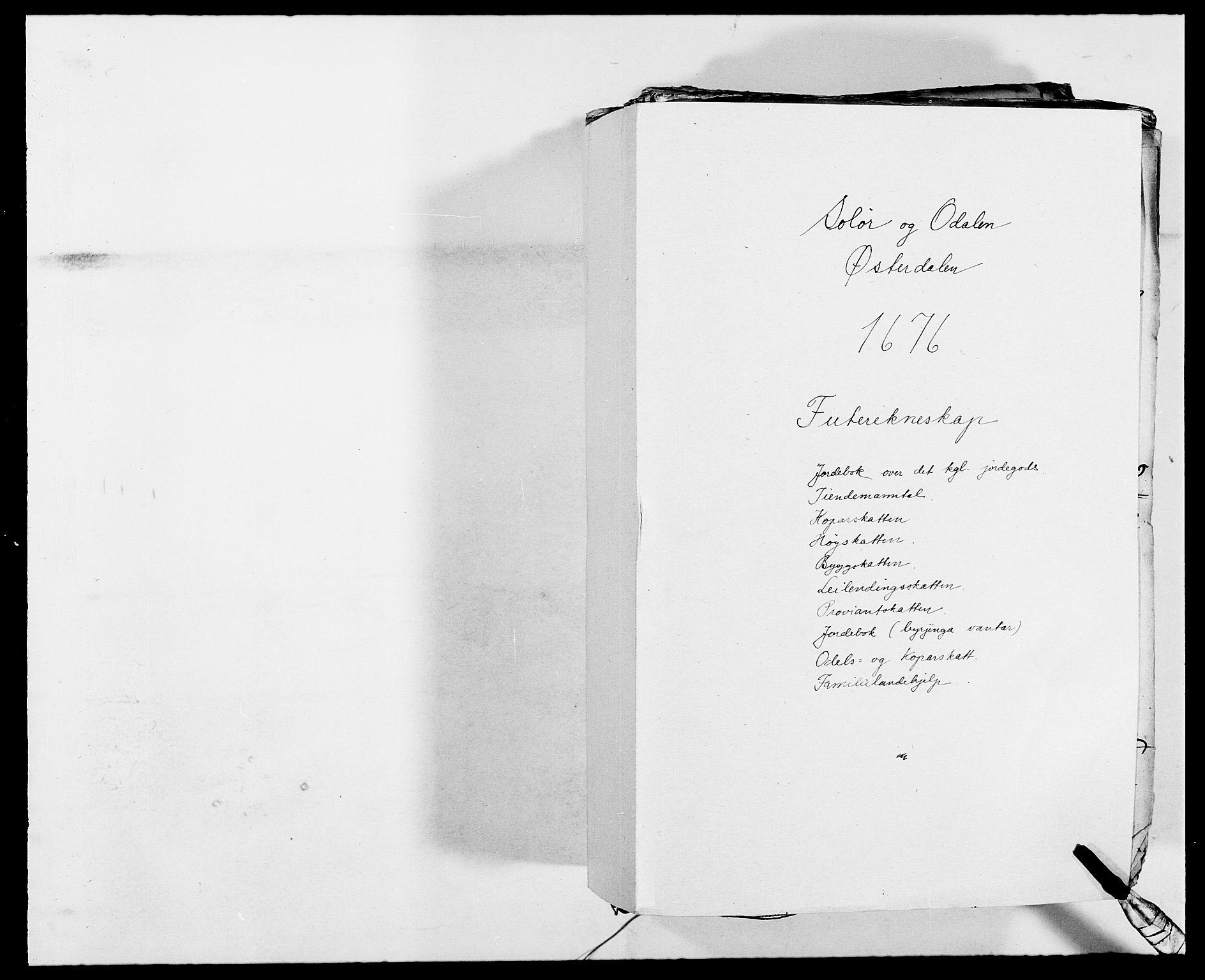 RA, Rentekammeret inntil 1814, Reviderte regnskaper, Fogderegnskap, R13/L0811: Fogderegnskap Solør, Odal og Østerdal, 1676, s. 1