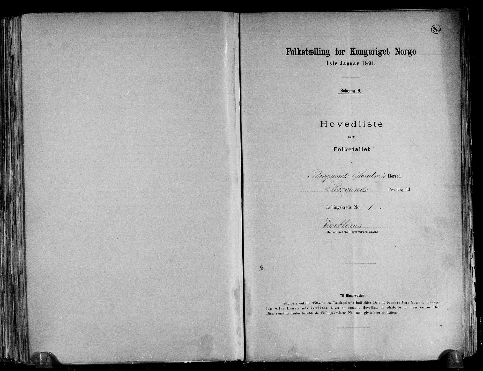 RA, Folketelling 1891 for 1531 Borgund herred, 1891, s. 7