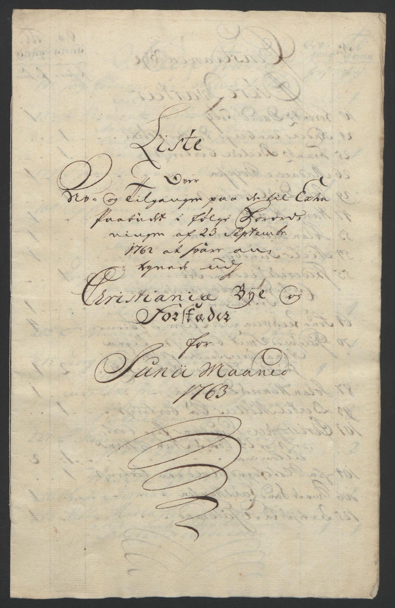 RA, Rentekammeret inntil 1814, Reviderte regnskaper, Byregnskaper, R/Re/L0072: [E13] Kontribusjonsregnskap, 1763-1764, s. 133