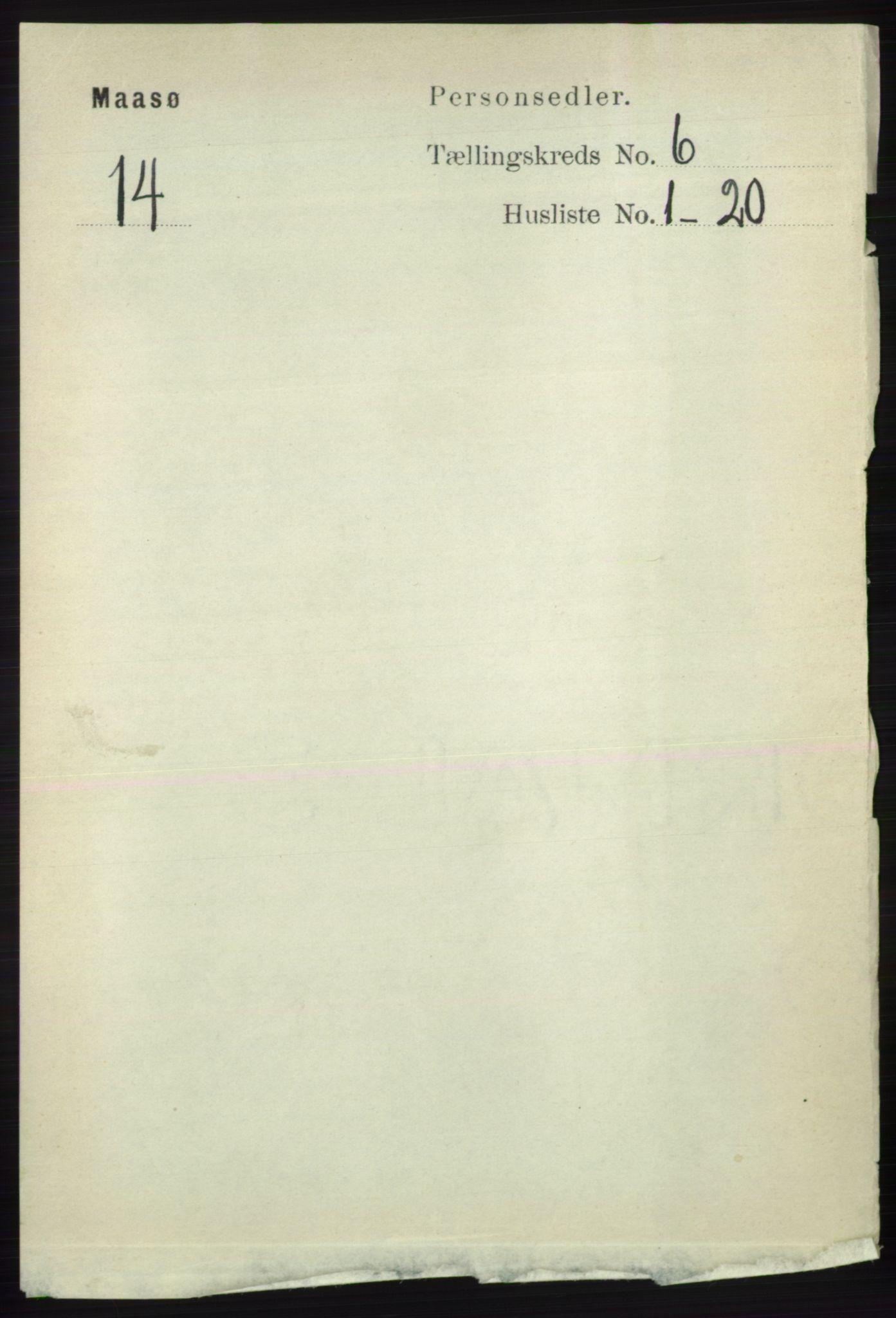 RA, Folketelling 1891 for 2018 Måsøy herred, 1891, s. 1121