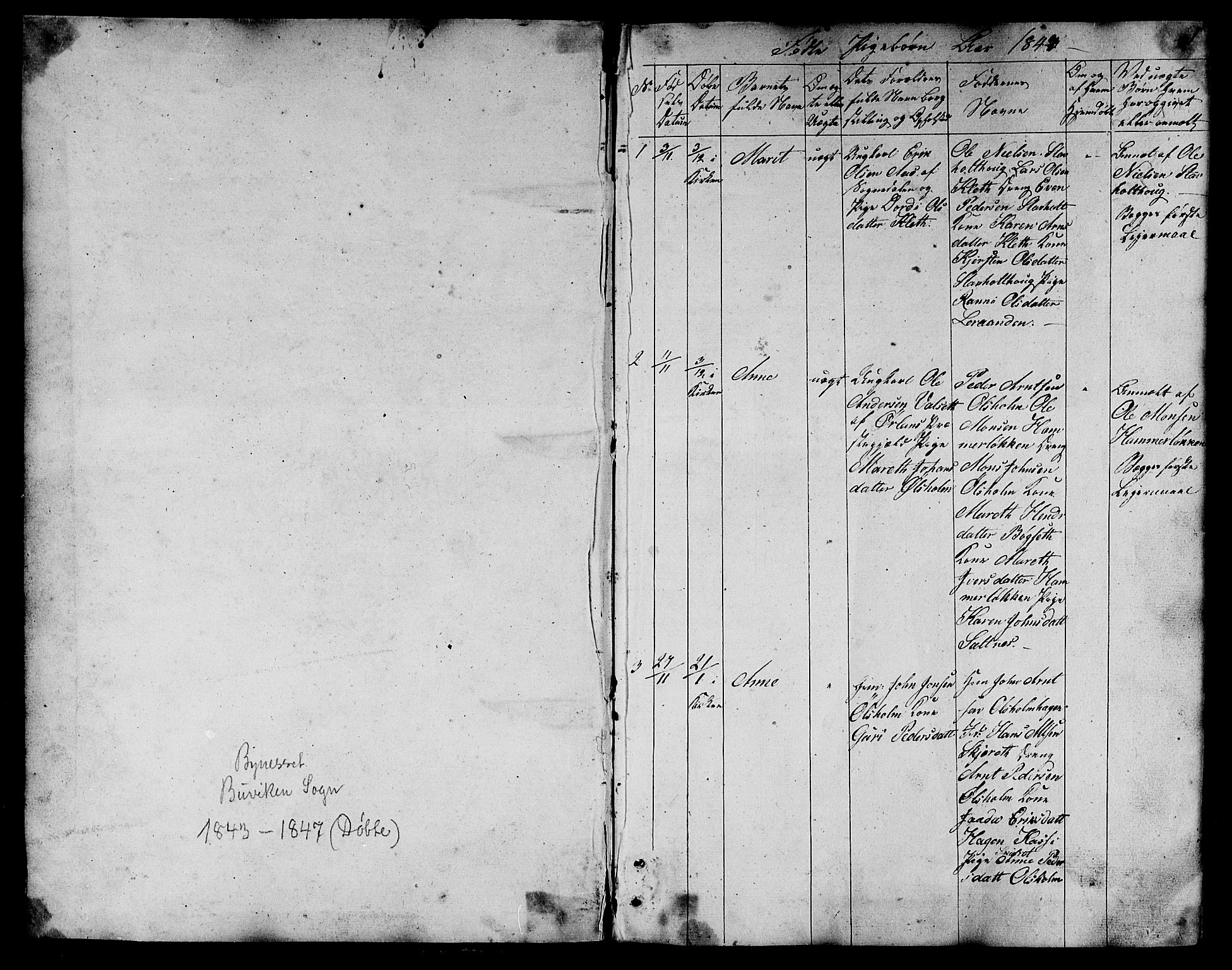 SAT, Ministerialprotokoller, klokkerbøker og fødselsregistre - Sør-Trøndelag, 666/L0789: Klokkerbok nr. 666C02, 1843-1847, s. 1