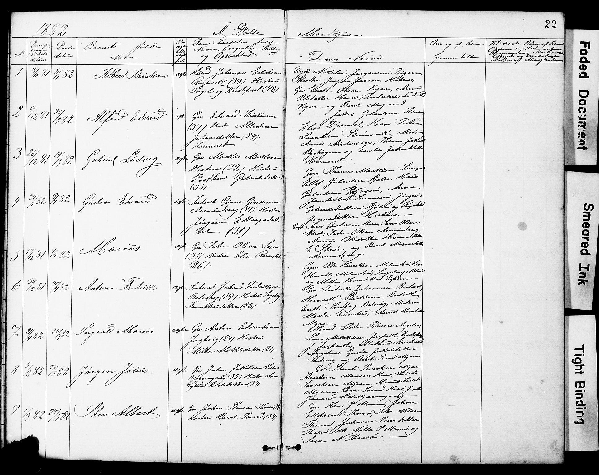 SAT, Ministerialprotokoller, klokkerbøker og fødselsregistre - Sør-Trøndelag, 634/L0541: Klokkerbok nr. 634C03, 1874-1891, s. 22