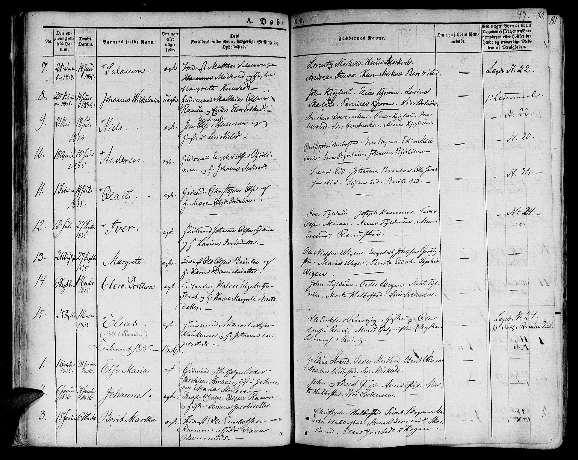 SAT, Ministerialprotokoller, klokkerbøker og fødselsregistre - Nord-Trøndelag, 758/L0510: Ministerialbok nr. 758A01 /2, 1821-1841, s. 47