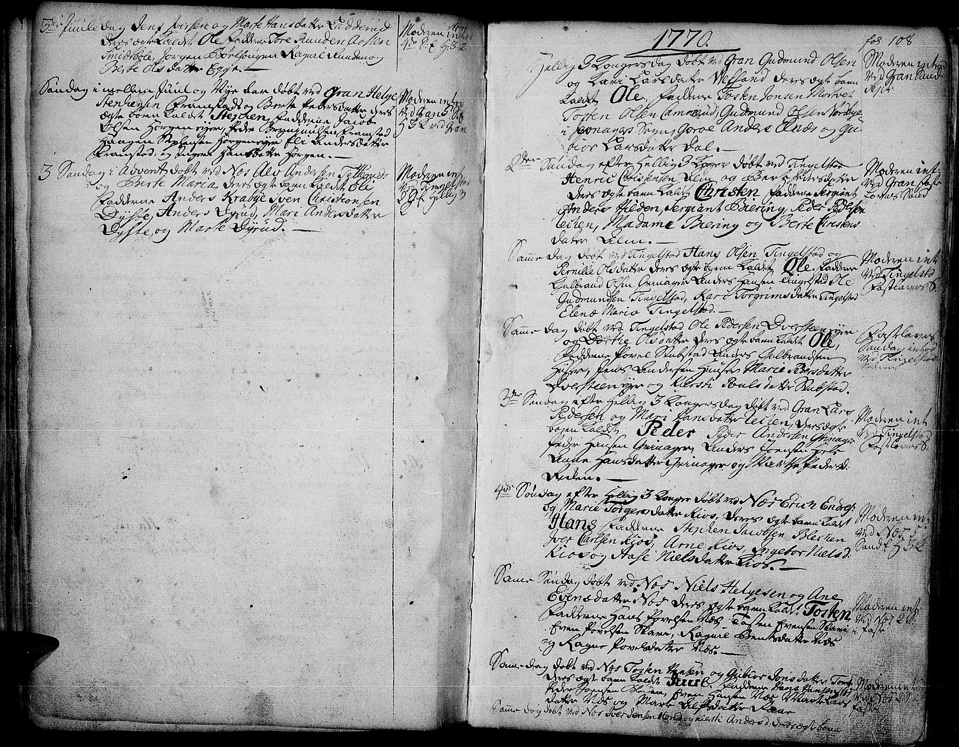 SAH, Gran prestekontor, Ministerialbok nr. 4, 1759-1775, s. 108