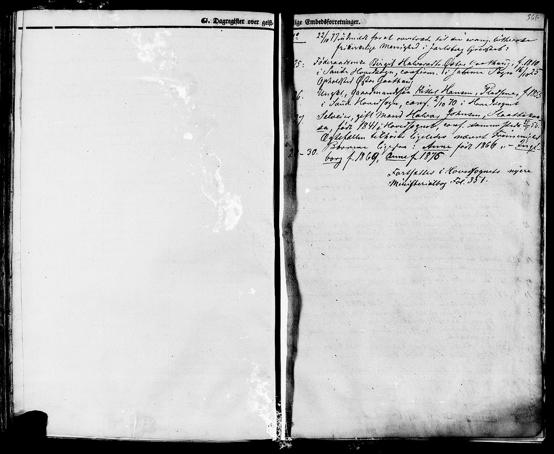 SAKO, Sauherad kirkebøker, F/Fa/L0007: Ministerialbok nr. I 7, 1851-1873, s. 366
