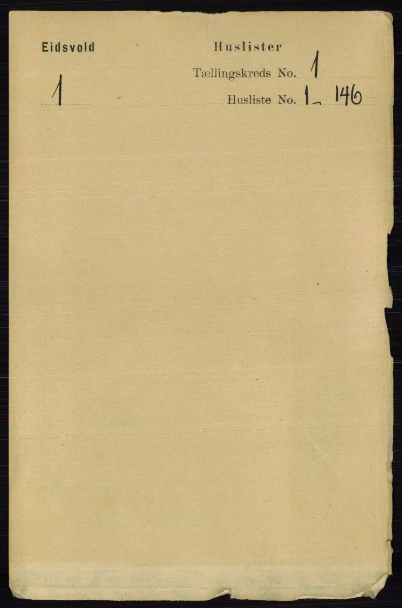 RA, Folketelling 1891 for 0237 Eidsvoll herred, 1891, s. 47