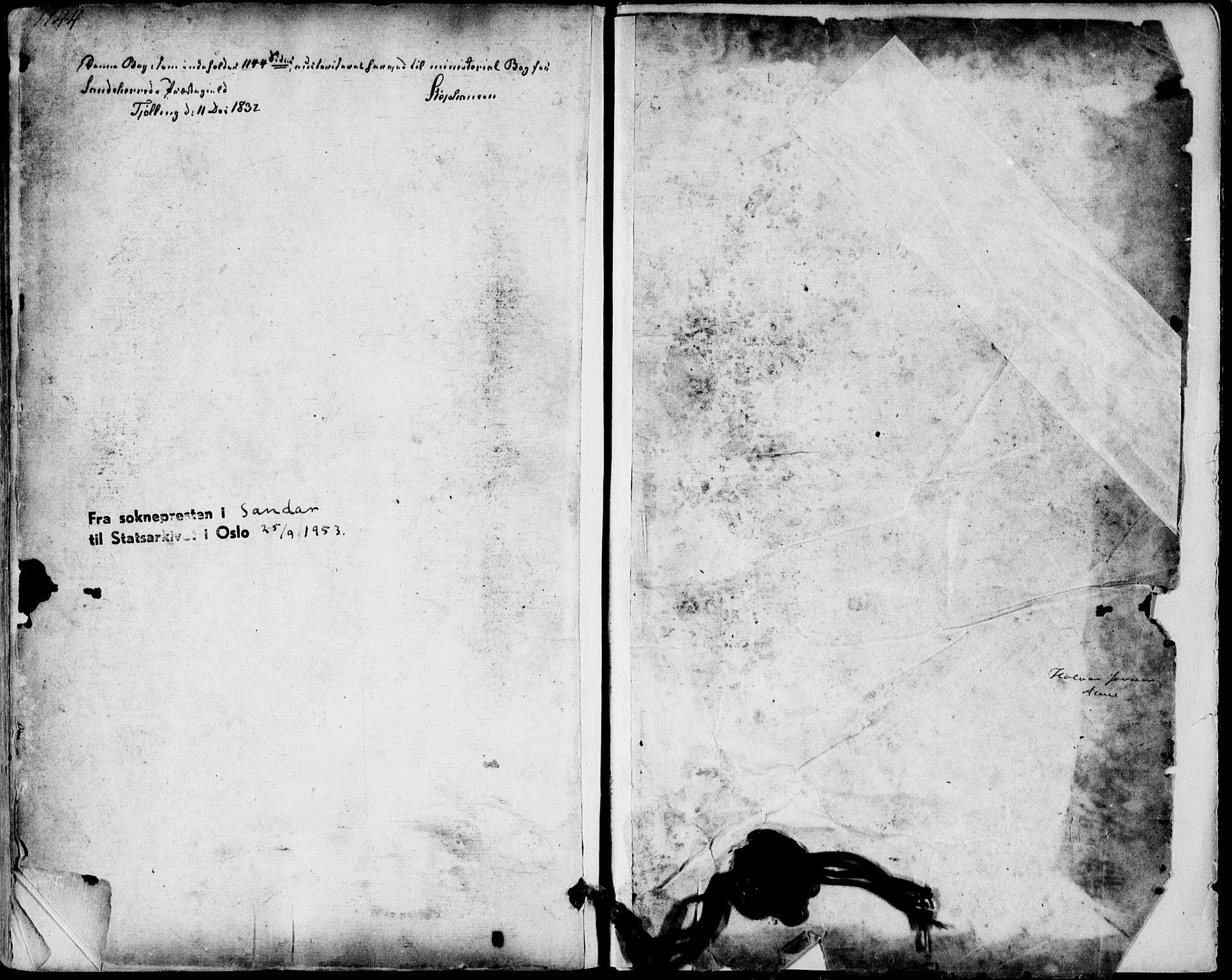 SAKO, Sandar kirkebøker, F/Fa/L0005: Ministerialbok nr. 5, 1832-1847, s. 1144-1145