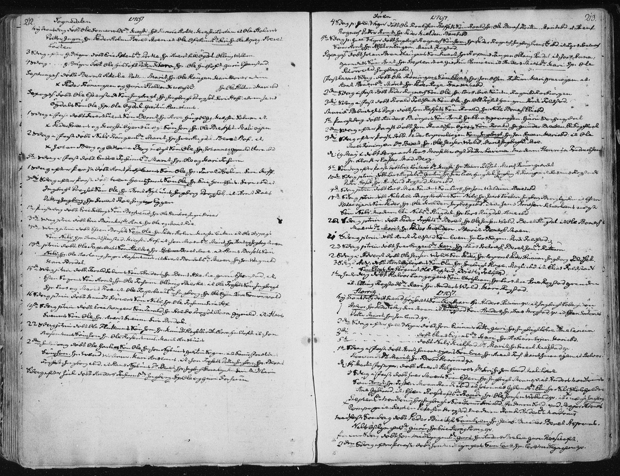 SAT, Ministerialprotokoller, klokkerbøker og fødselsregistre - Sør-Trøndelag, 687/L0992: Ministerialbok nr. 687A03 /1, 1788-1815, s. 212-213