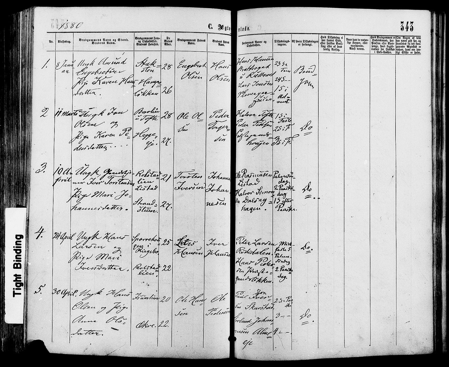 SAH, Sør-Fron prestekontor, H/Ha/Haa/L0002: Ministerialbok nr. 2, 1864-1880, s. 343