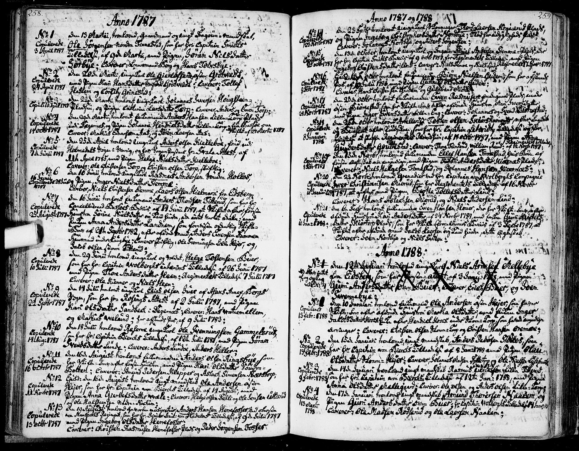 SAO, Rakkestad prestekontor Kirkebøker, F/Fa/L0005: Ministerialbok nr. I 5, 1784-1814, s. 258-259