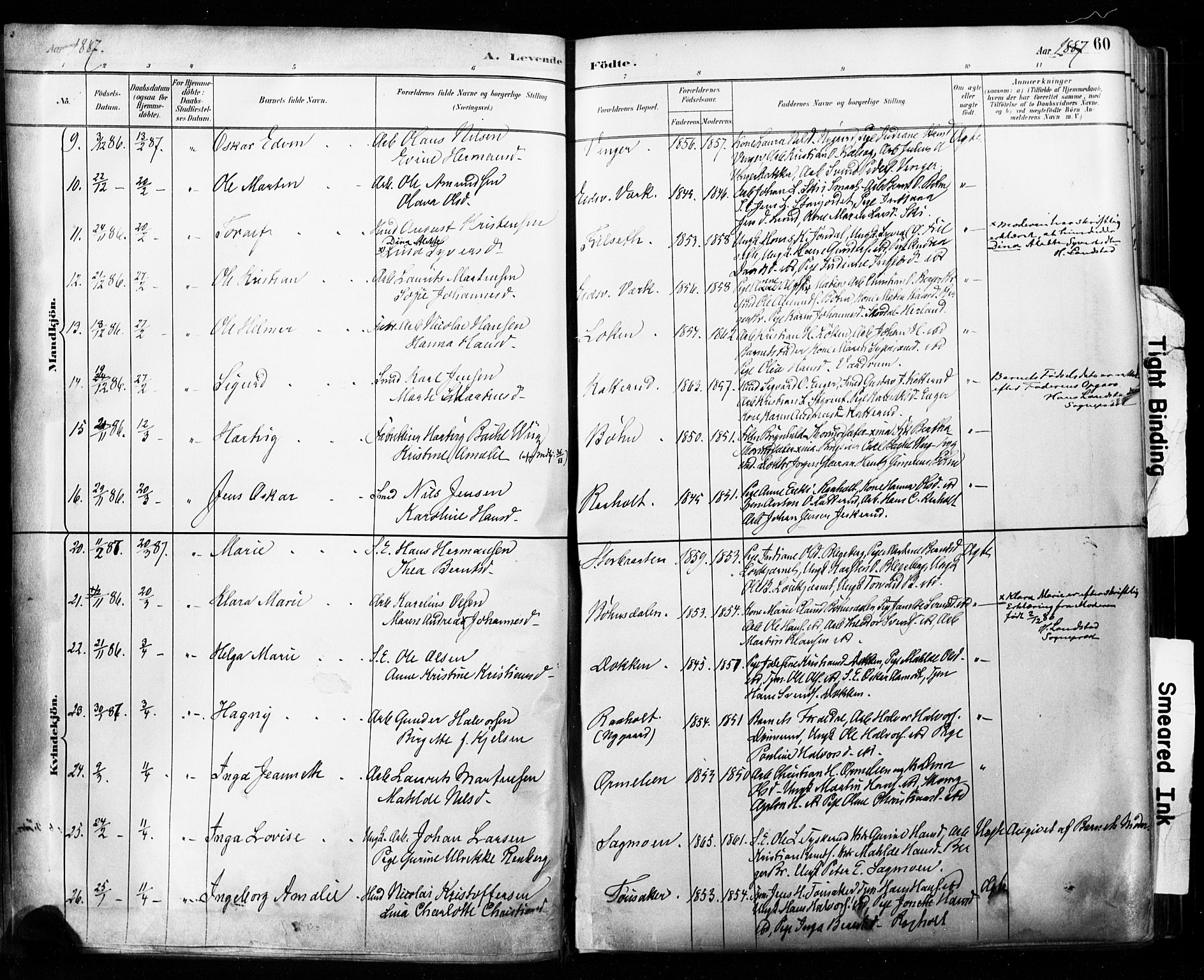 SAO, Eidsvoll prestekontor Kirkebøker, F/Fa/L0002: Ministerialbok nr. I 2, 1882-1895, s. 60