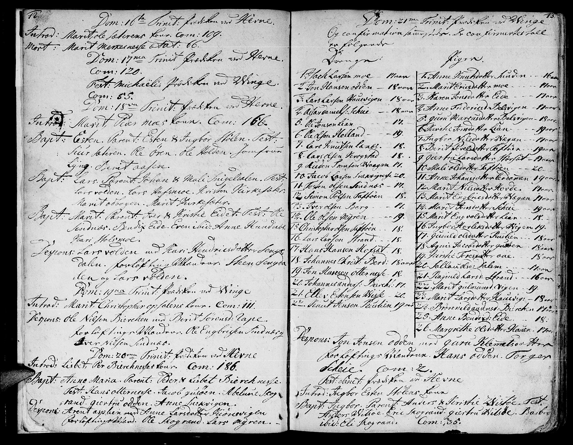 SAT, Ministerialprotokoller, klokkerbøker og fødselsregistre - Sør-Trøndelag, 630/L0489: Ministerialbok nr. 630A02, 1757-1794, s. 12-13