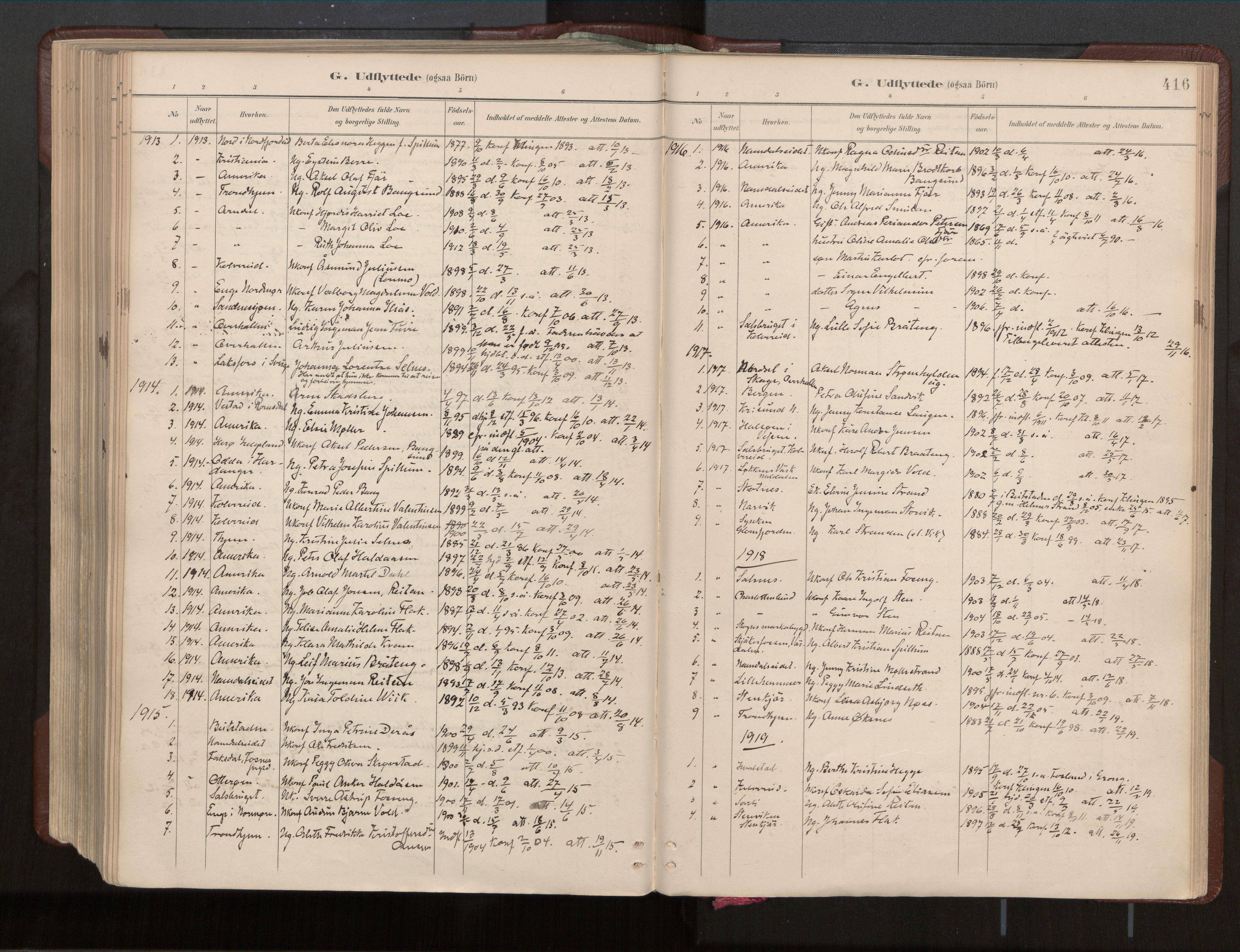 SAT, Ministerialprotokoller, klokkerbøker og fødselsregistre - Nord-Trøndelag, 770/L0589: Ministerialbok nr. 770A03, 1887-1929, s. 416