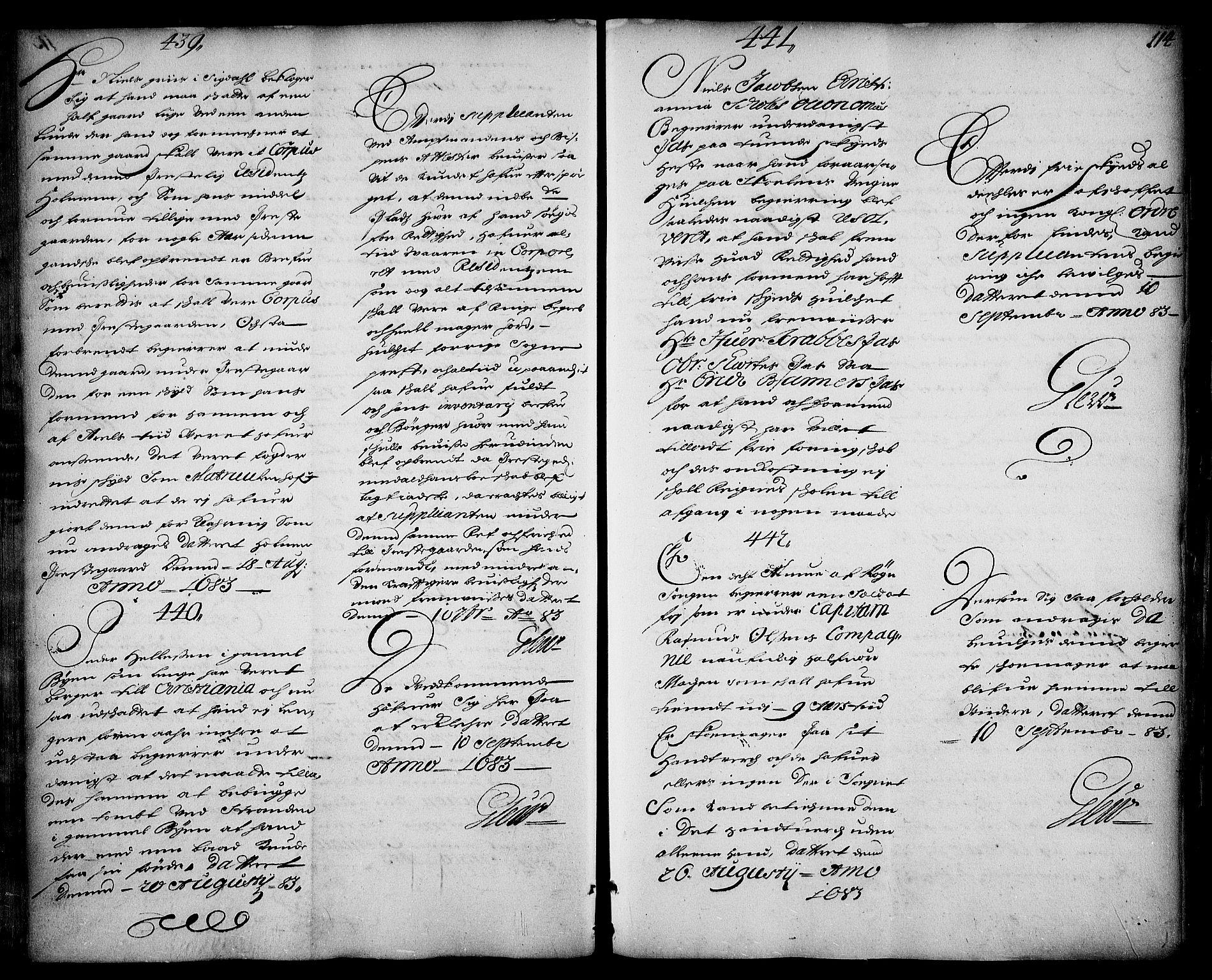 RA, Stattholderembetet 1572-1771, Ad/L0004: Supplikasjons- og resolusjonsprotokoll, 1683-1691, s. 112b-113a
