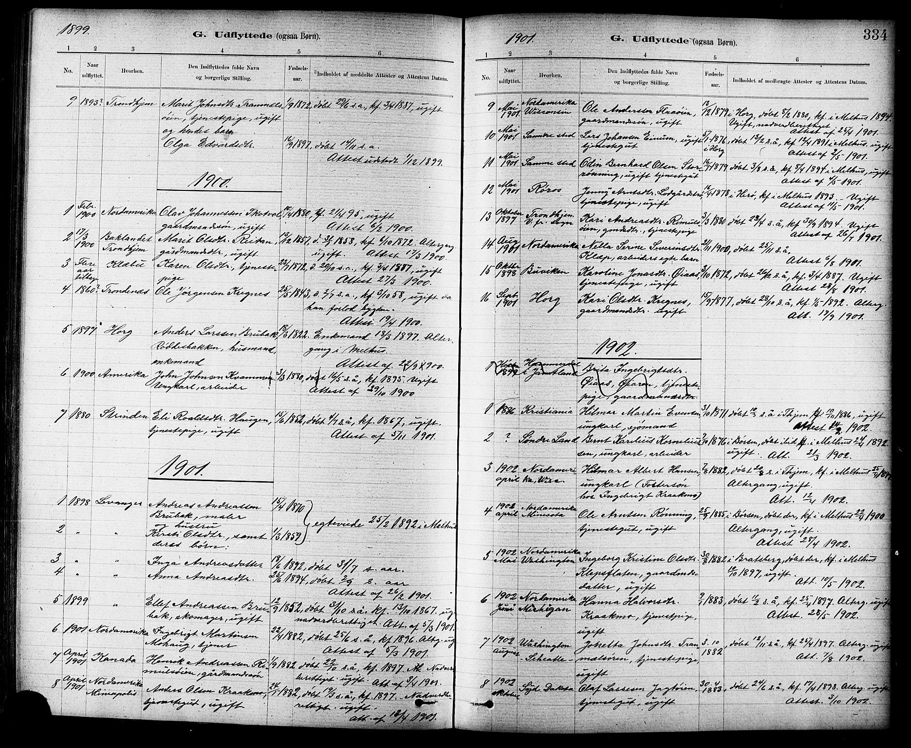 SAT, Ministerialprotokoller, klokkerbøker og fødselsregistre - Sør-Trøndelag, 691/L1094: Klokkerbok nr. 691C05, 1879-1911, s. 334