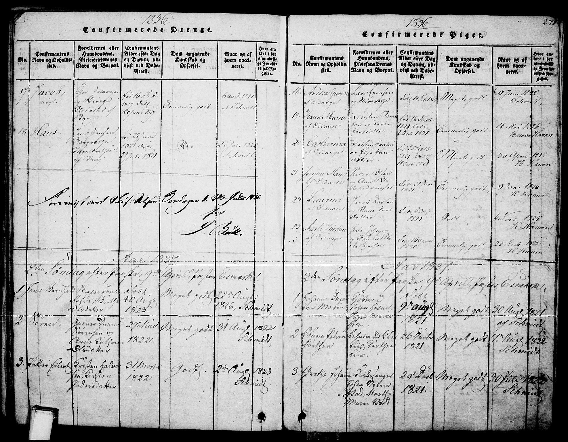 SAKO, Brevik kirkebøker, F/Fa/L0004: Ministerialbok nr. 4, 1814-1846, s. 271